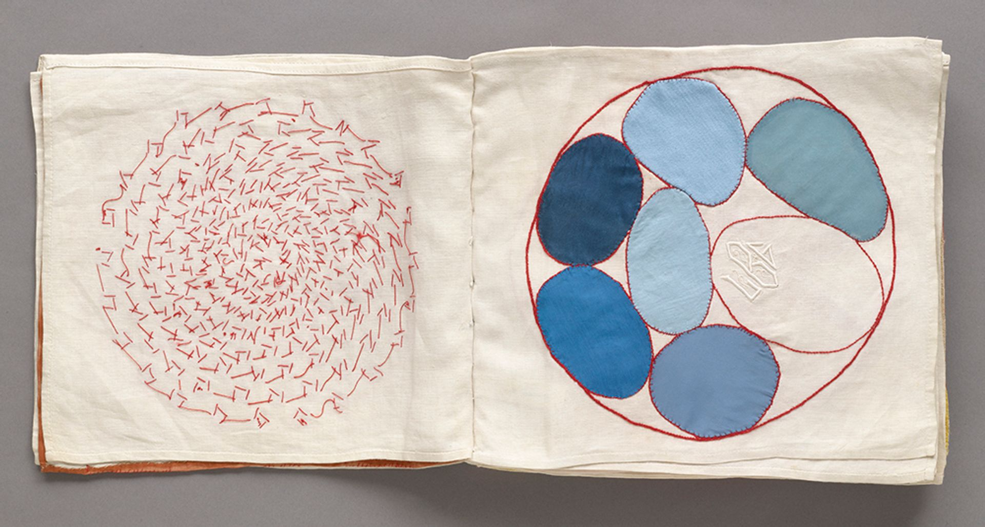 Louise Bourgeois, No. 4 of 34 from the fabric illustrated book Ode à l'Oubli (2002). The Museum of Modern Art, New York. Gift of the artist 2017 The Easton Foundation/Licensed by VAGA, NY