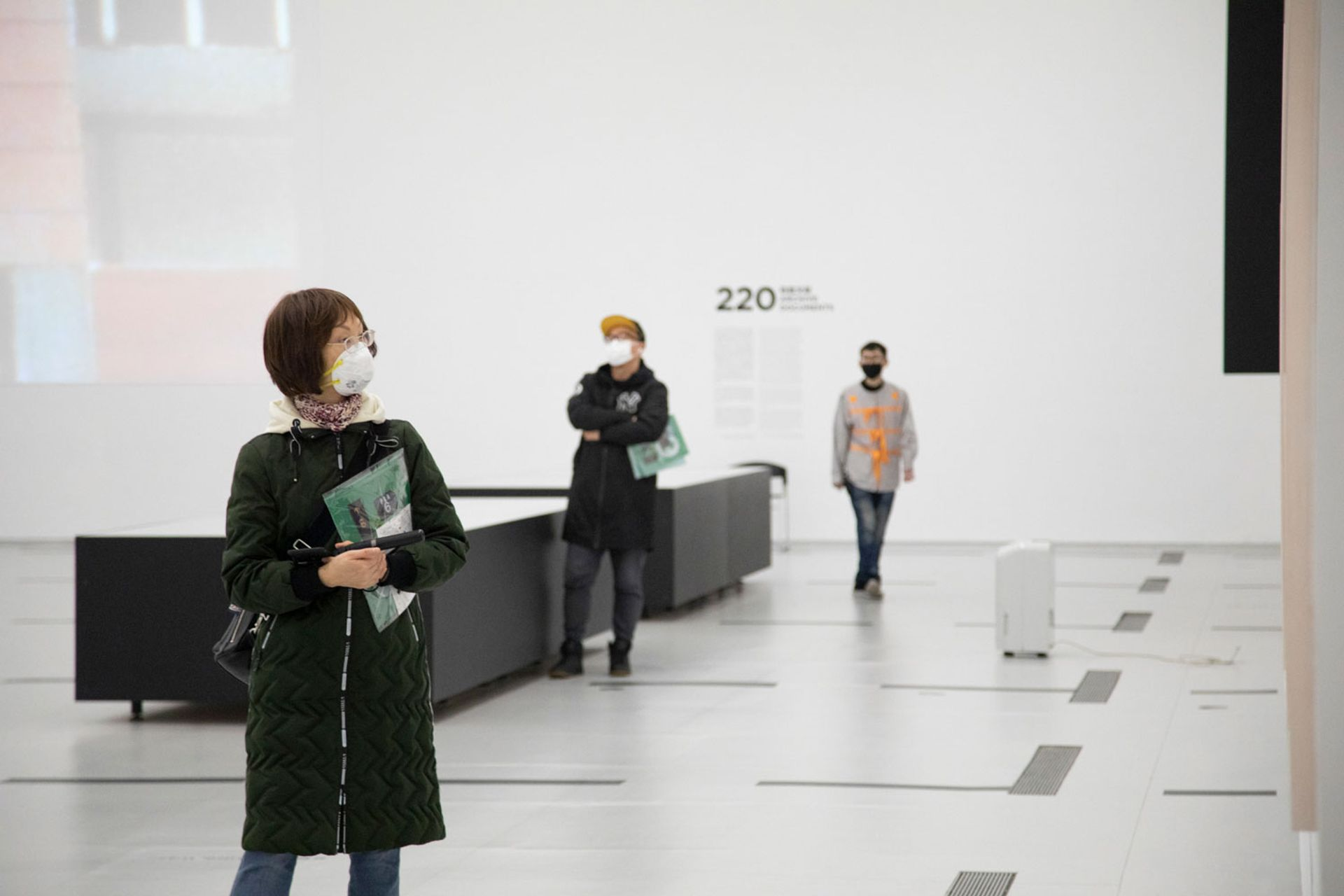 Shanghai's Power Station of Art reopened to the public today. Visitors must have their temperature checked and keep 1.5-metre distance © Power Station of Art