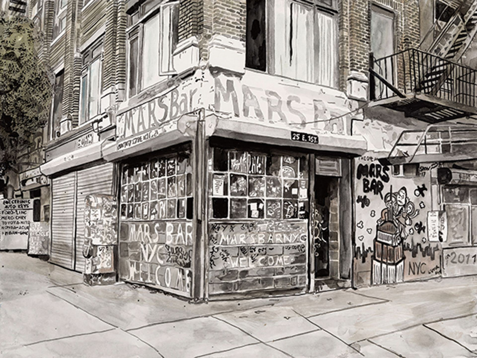 Gone but not forgotten: Harvey's Mars Bar recalls the famously gritty New York dive © Etienne Frossard
