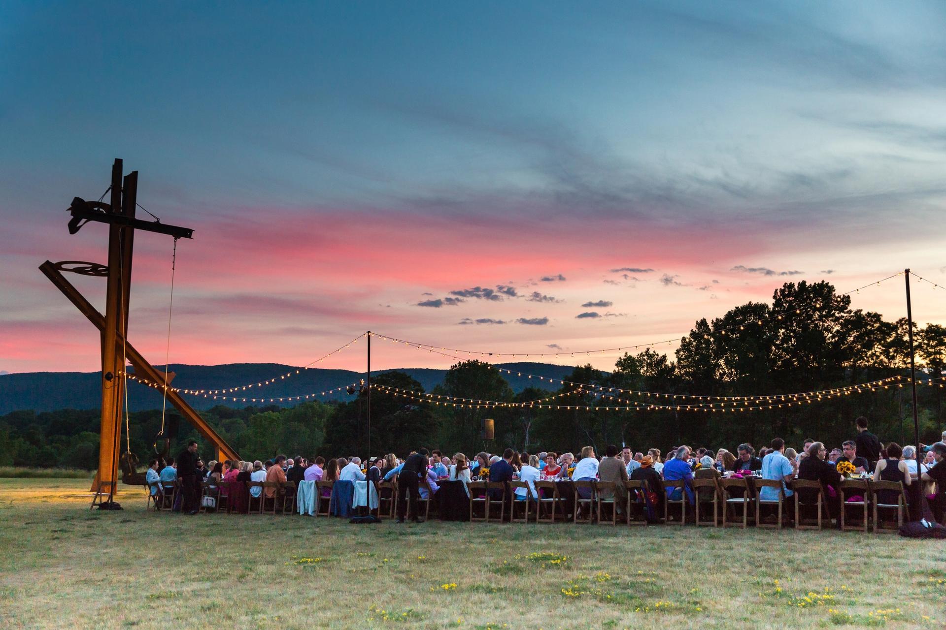 Storm King's Summer Solstice dinner in 2017 Photo: Vladimir Weinstein/BFA.com. Courtesy of Storm King Art Center.