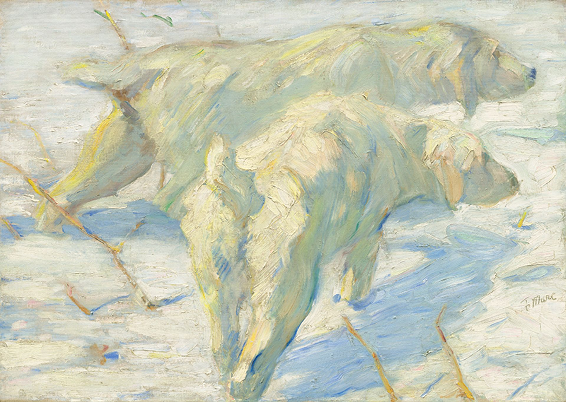 Franz Marc, Siberian Sheepdogs (1909) National Gallery of Art, Washington