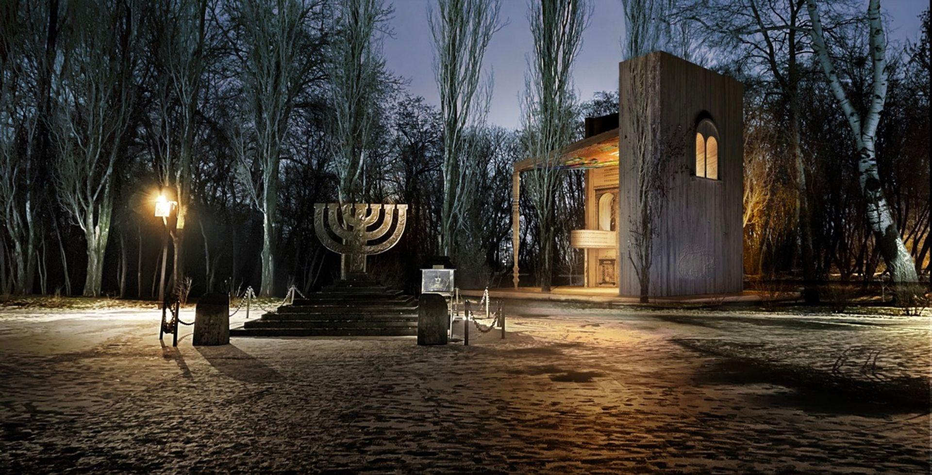 Manuel Herz's design for the Babyn Yar Synagogue © Manuel Herz Architekten