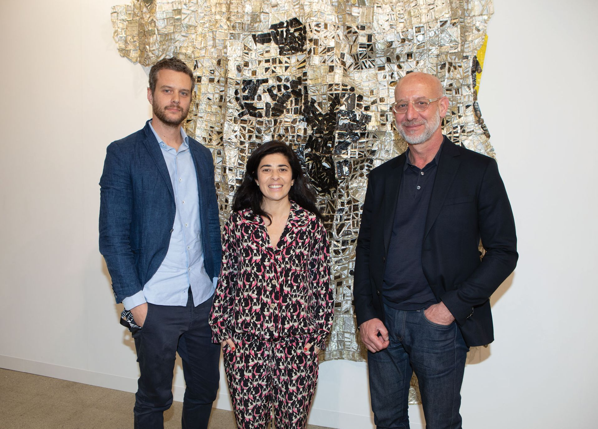 Joost Bosland from Stevenson Gallery, Liza Essers from Goodman Gallery and Jonathan Garnham from Blank Projects, who are all involved in the Art Joburg fair © David Owens