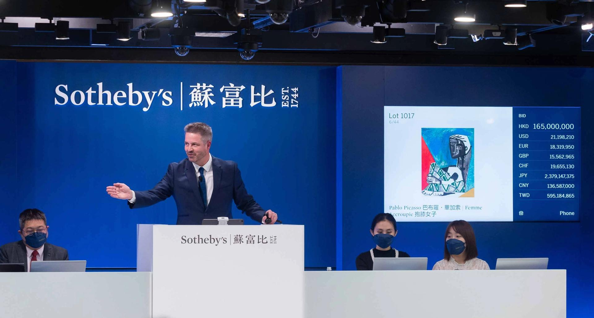 A work by Pablo Picasso tops Sotheby's Modern art sale in Hong Kong  Courtesy of Sotheby's