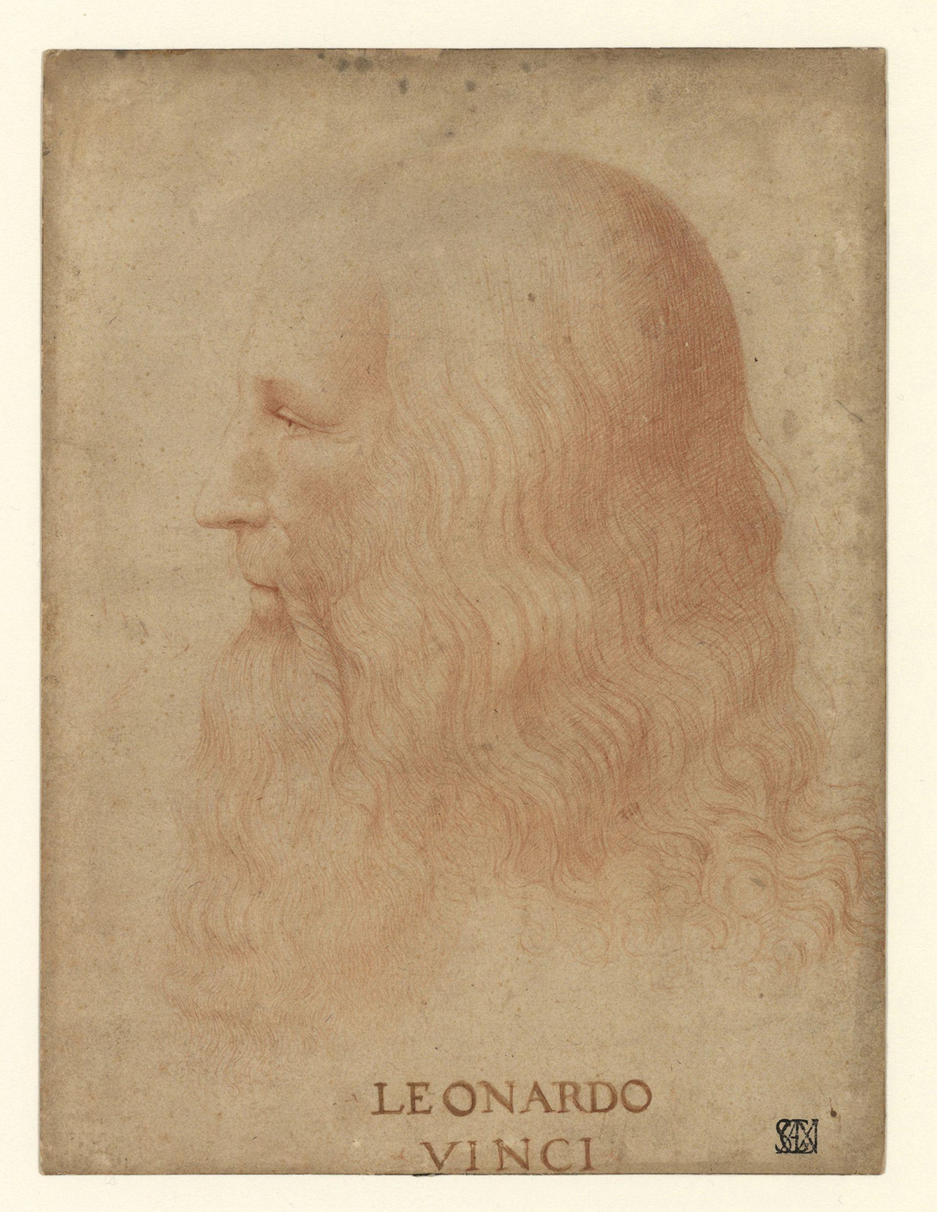 Attributed to Marco D'Oggiono (1475-1530). Portrait of Leonardo da Vinci. © Veneranda Biblioteca Ambrosiana