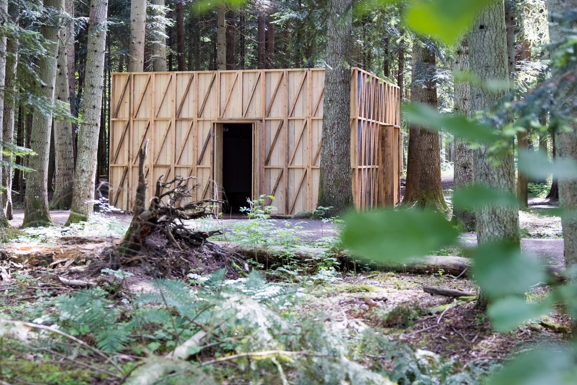 Momentum 11 takes place across various sites in Moss, Norway. Installation view of S-AR's Pabellón Plataforma (Platform Pavilion), 2021 Photo: © Eivind Lauritzen