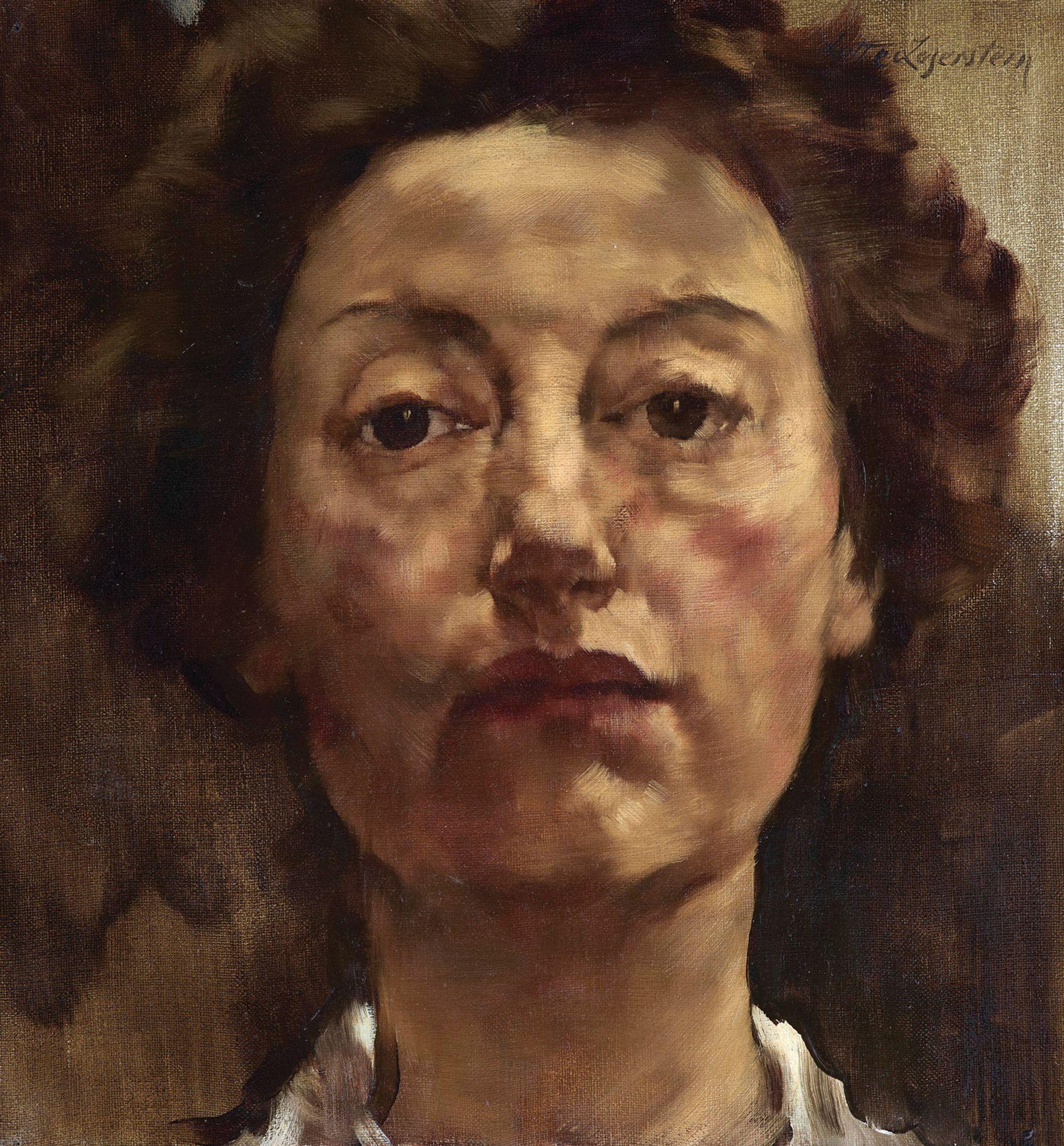 Lotte Laserstein, Self-portrait en face (1934-35) Courtesy of Agnew's