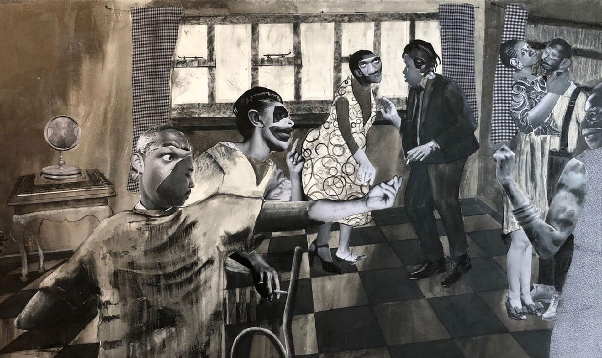Neo Matloga's Nna le khaitseli ea ka (2019) is on show with Ron Mandos gallery © Neo Matloga, courtesy of Ron Mandos gallery