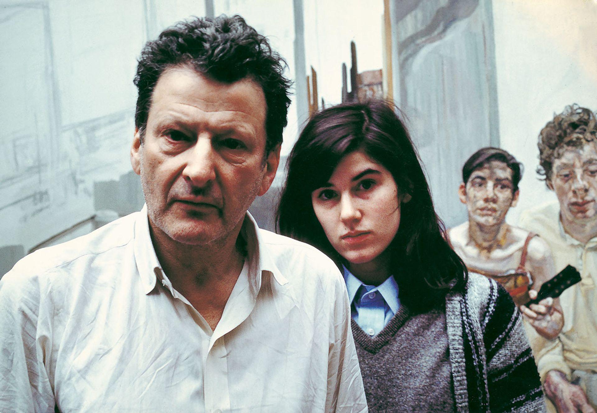 Bruce Bernard's 1983 image of Lucian Freud and his daughter, Bella © Estate of Bruce Bernard
