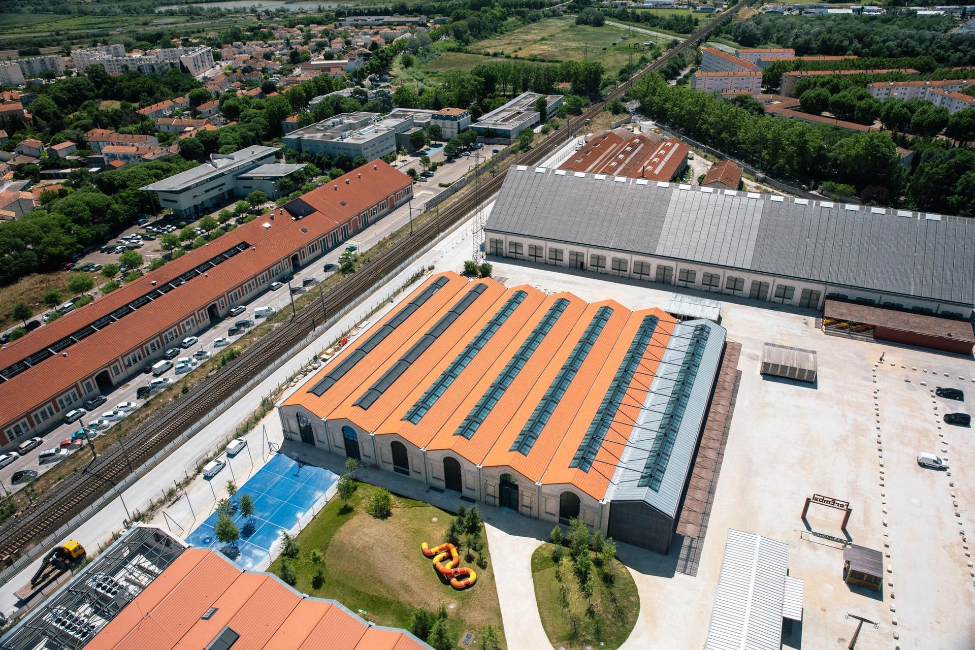 Aerial view of Luma Arles Parc des Ateliers site, June 2017 © Victor Picon