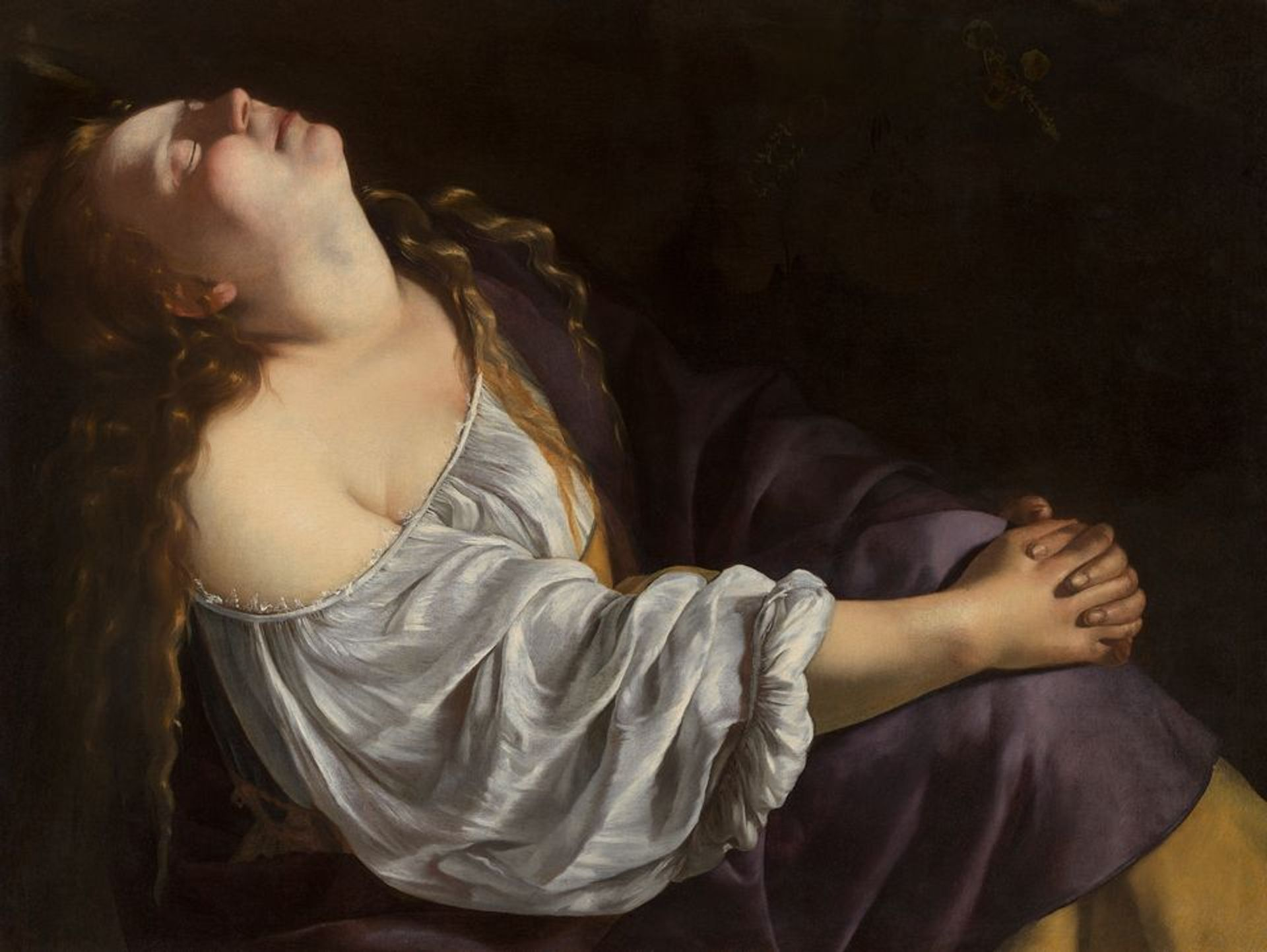Artemisia Gentileschi, Mary Magdalene in Ecstasy (around 1620-25) Private European collection © Photo: Dominique Provost Art Photography - Bruges