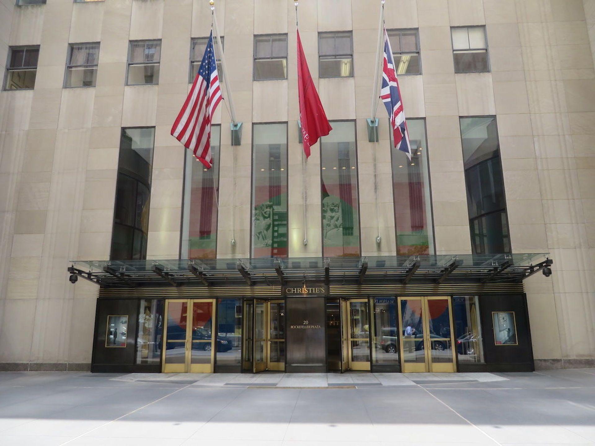 Christie's headquarters in New York's Rockefeller Plaza. Leonard J. DeFrancisci/ Wikimedia Commons