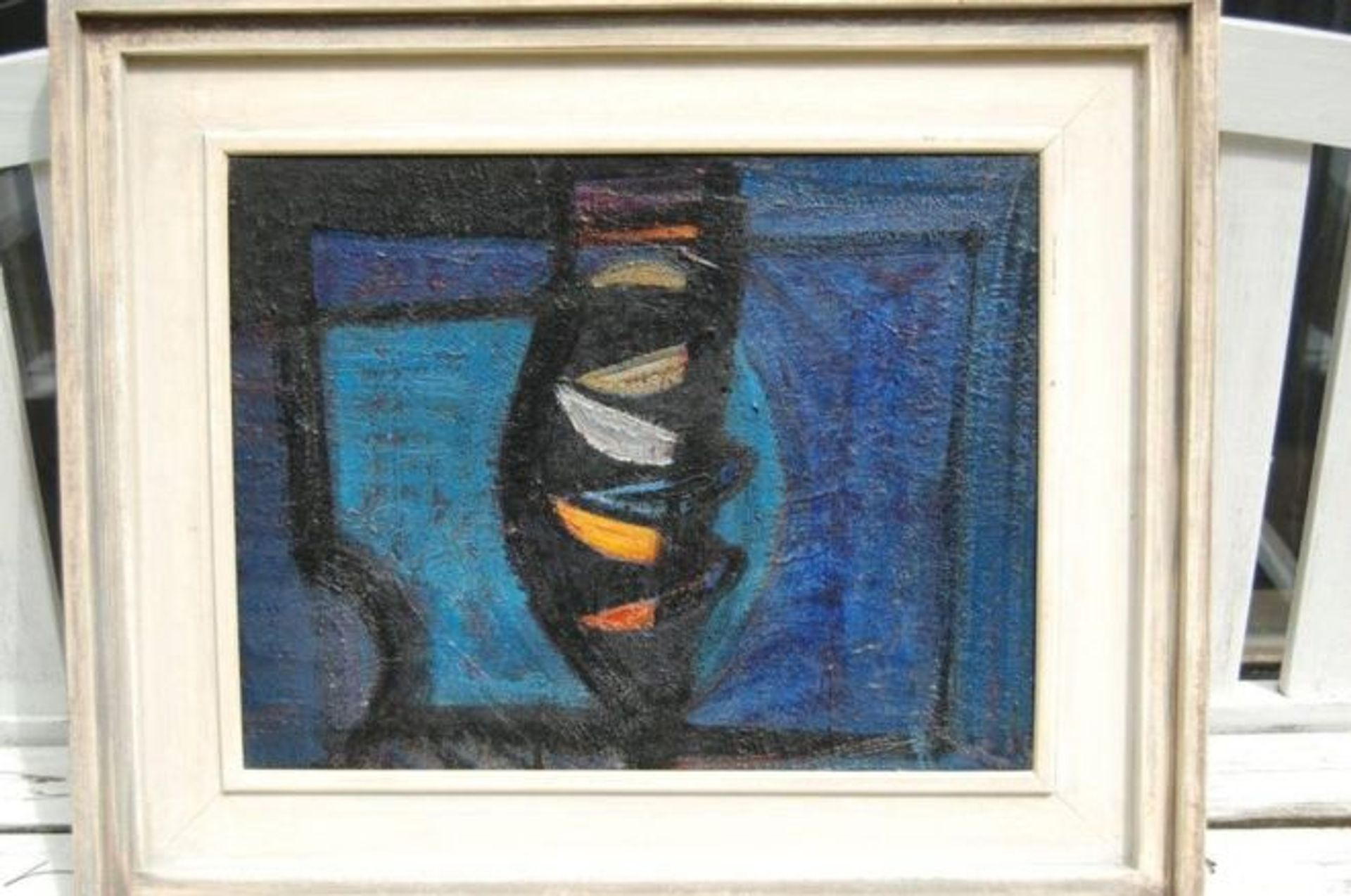 Terry Frost's Blue Harbour (1954) was left on a train © British Transport Police