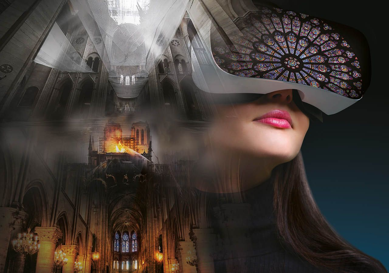 Since opening in July, the Notre Dame VR experience has had 10,000 visitors Courtesy of FlyView Paris