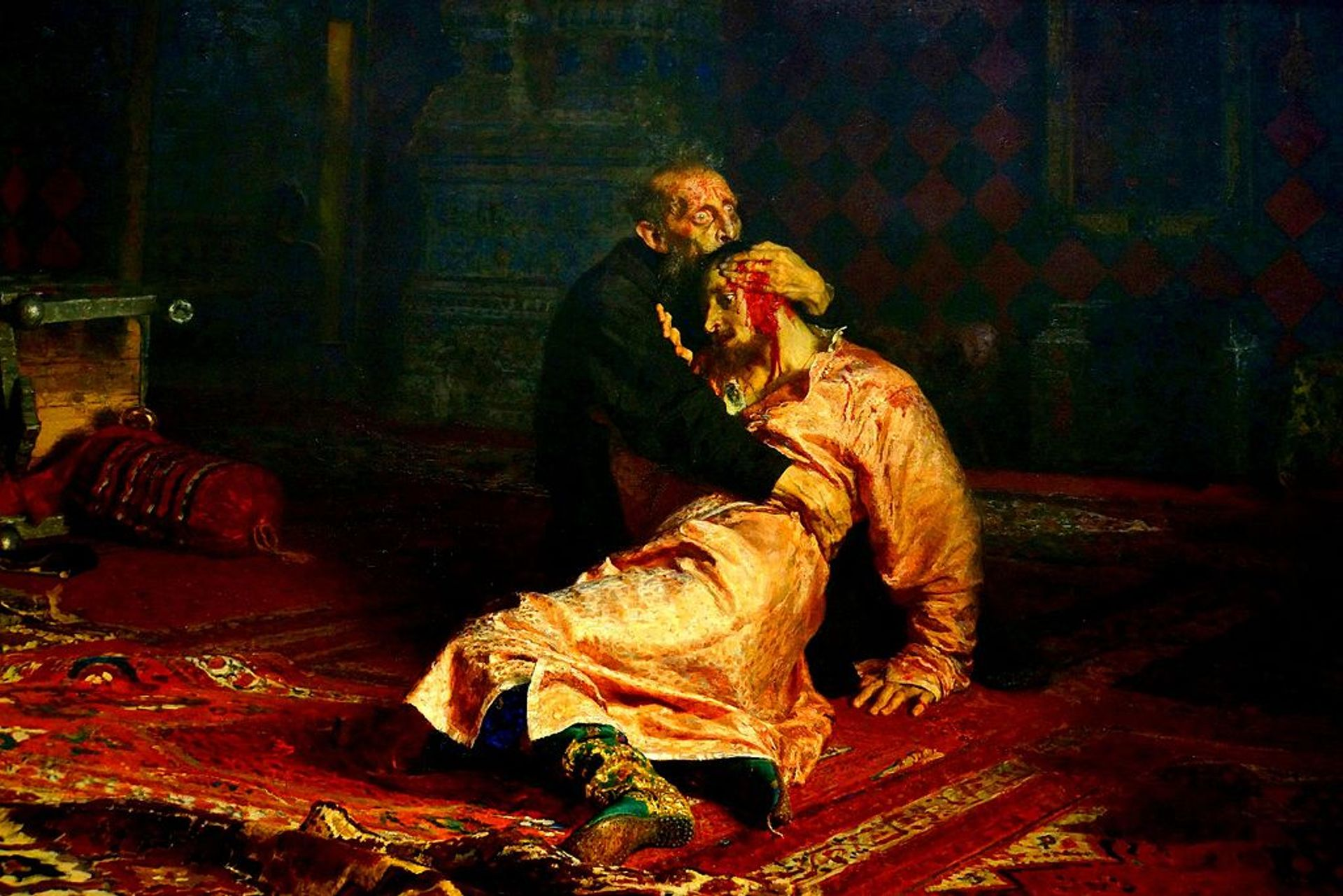 Ivan the Terrible and His Son Ivan (1581) Wikimedia Commons