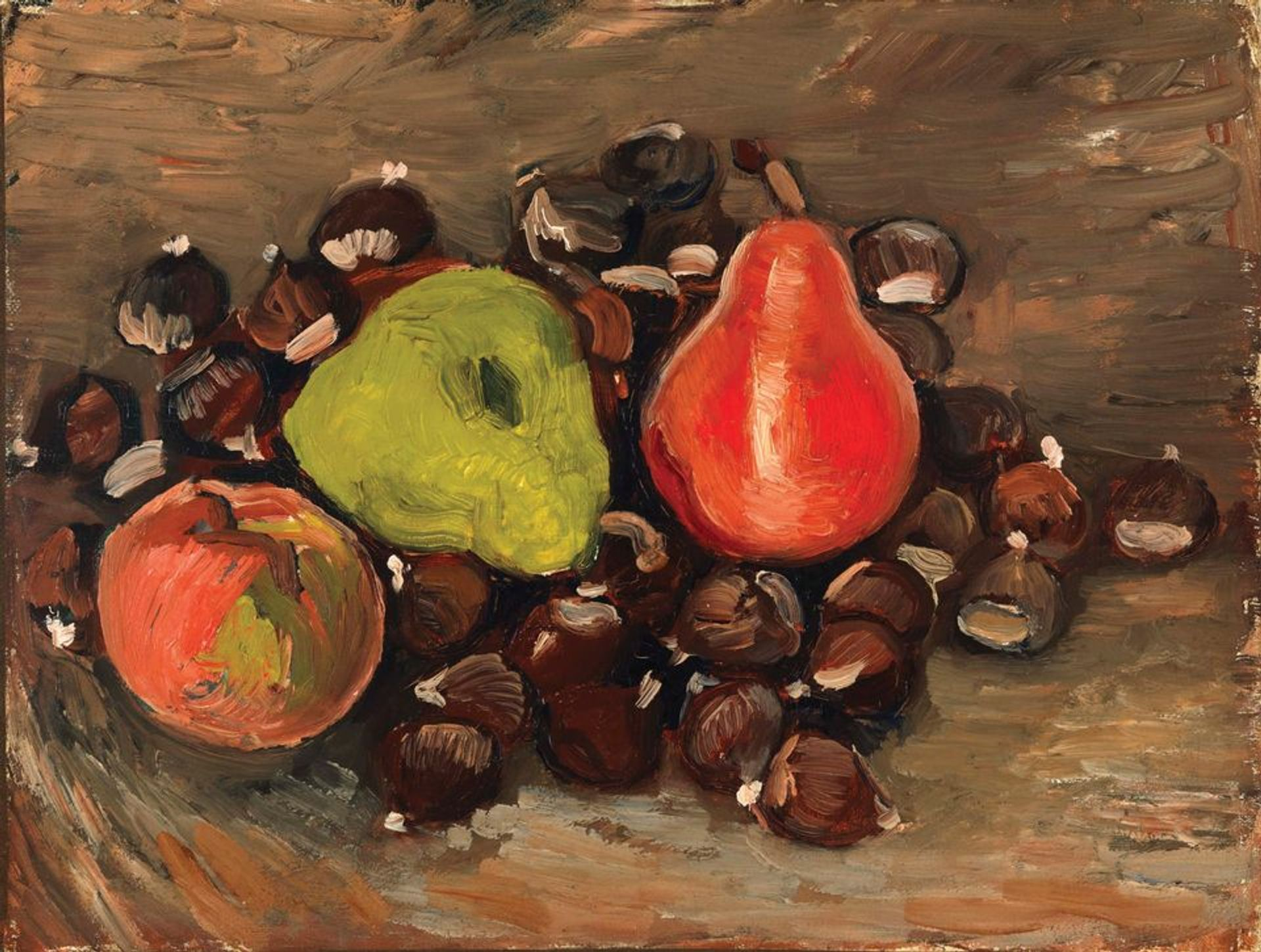 Van Gogh's Still Life with Fruit and Chestnuts (1886) © Courtesy of the Fine Arts Museums of San Francisco