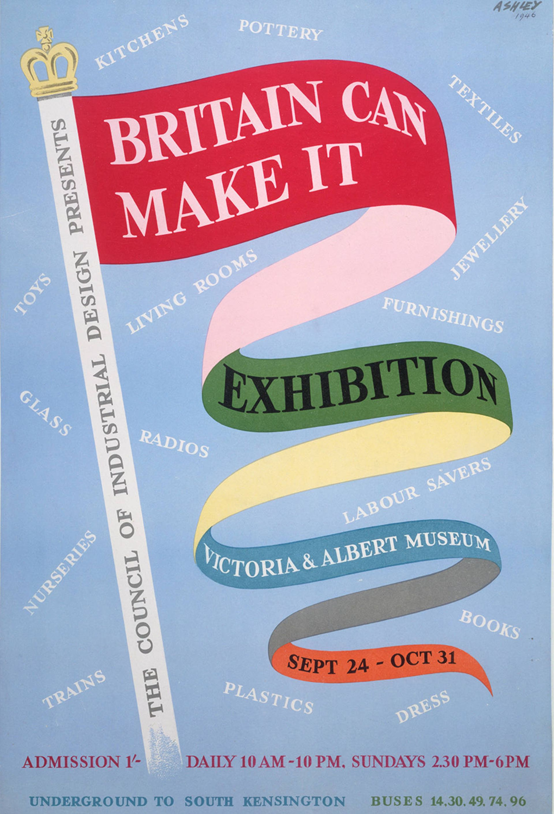 Britain Can Make It, poster, Ashley Havinden, (1946) © Victoria and Albert Museum, London