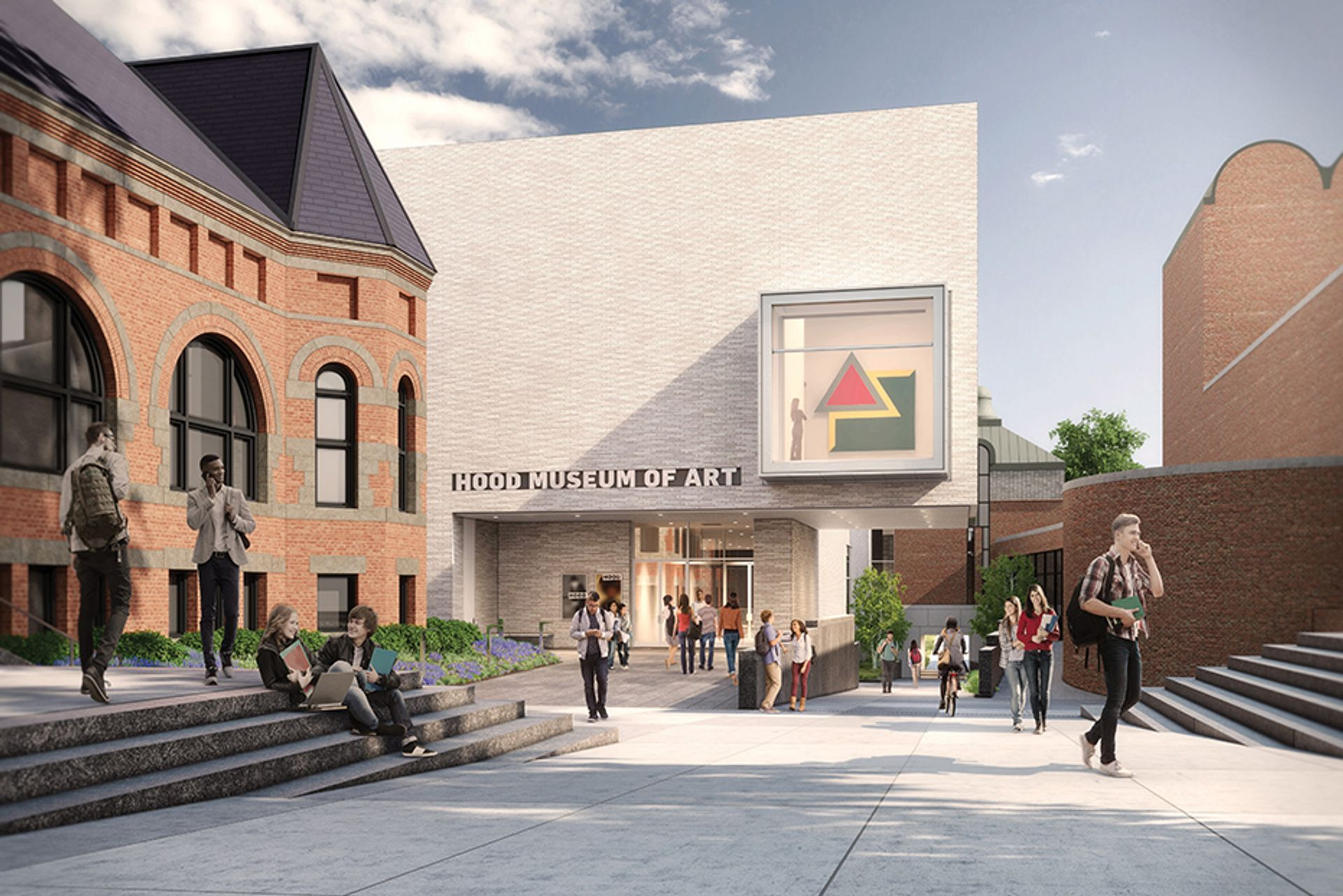 The Hood museum's expansion includes six new gallery spaces. Rendering by MARCH