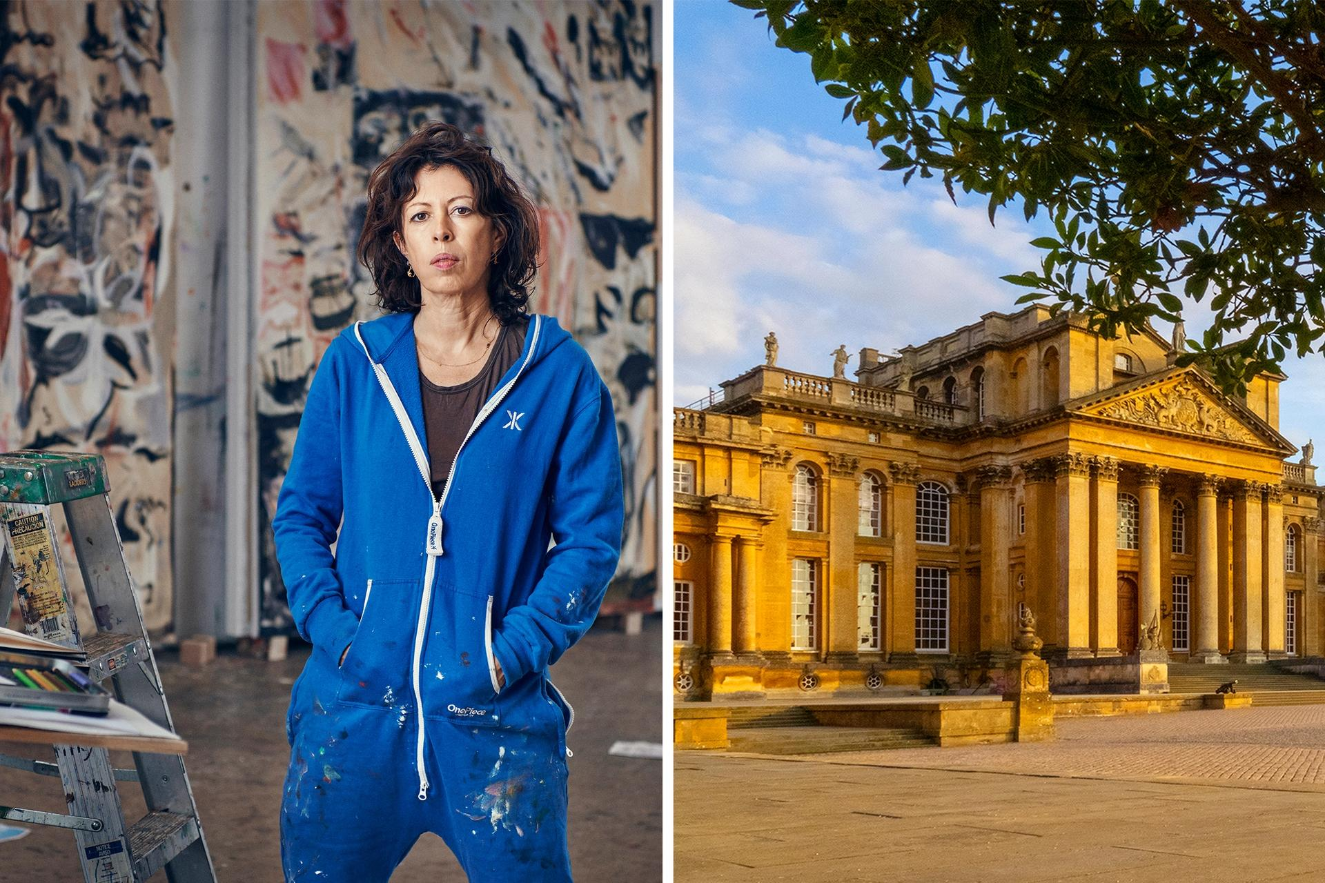 Cecily Brown (left) is the latest artist to be chosen for an exhibition at Blenheim Palace (right) Brown: Photo by Tom Lindboe, 2019. Both images courtesy of Blenheim Art Foundation