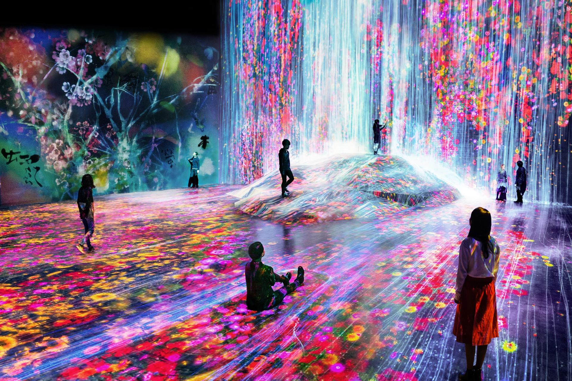 """TeamLab's """"Universe of Water Particles on a Rock where People Gather."""" Courtesy of Pace"""