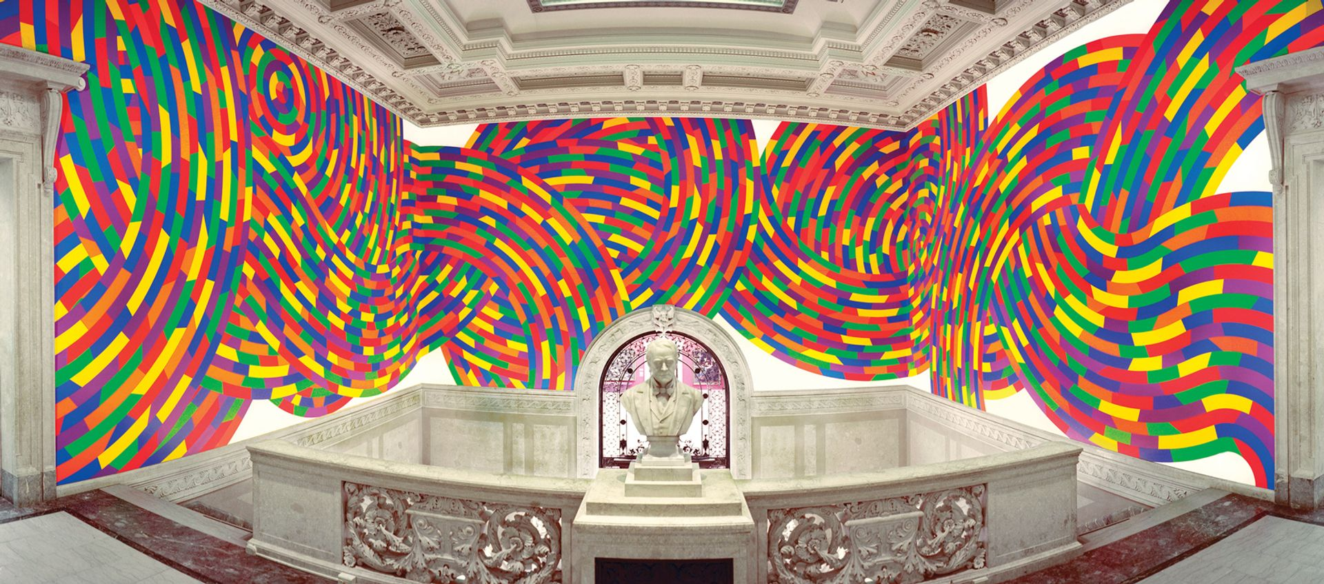 Wall Drawing #1131 (2004) is situated at the Wadsworth Atheneum in Hartford, Connecticut Photo: Allen Phillips; © Estate of Sol LeWitt/Artists Rights Society (ARS), New York; courtesy of Wadsworth Atheneum Museum of Art