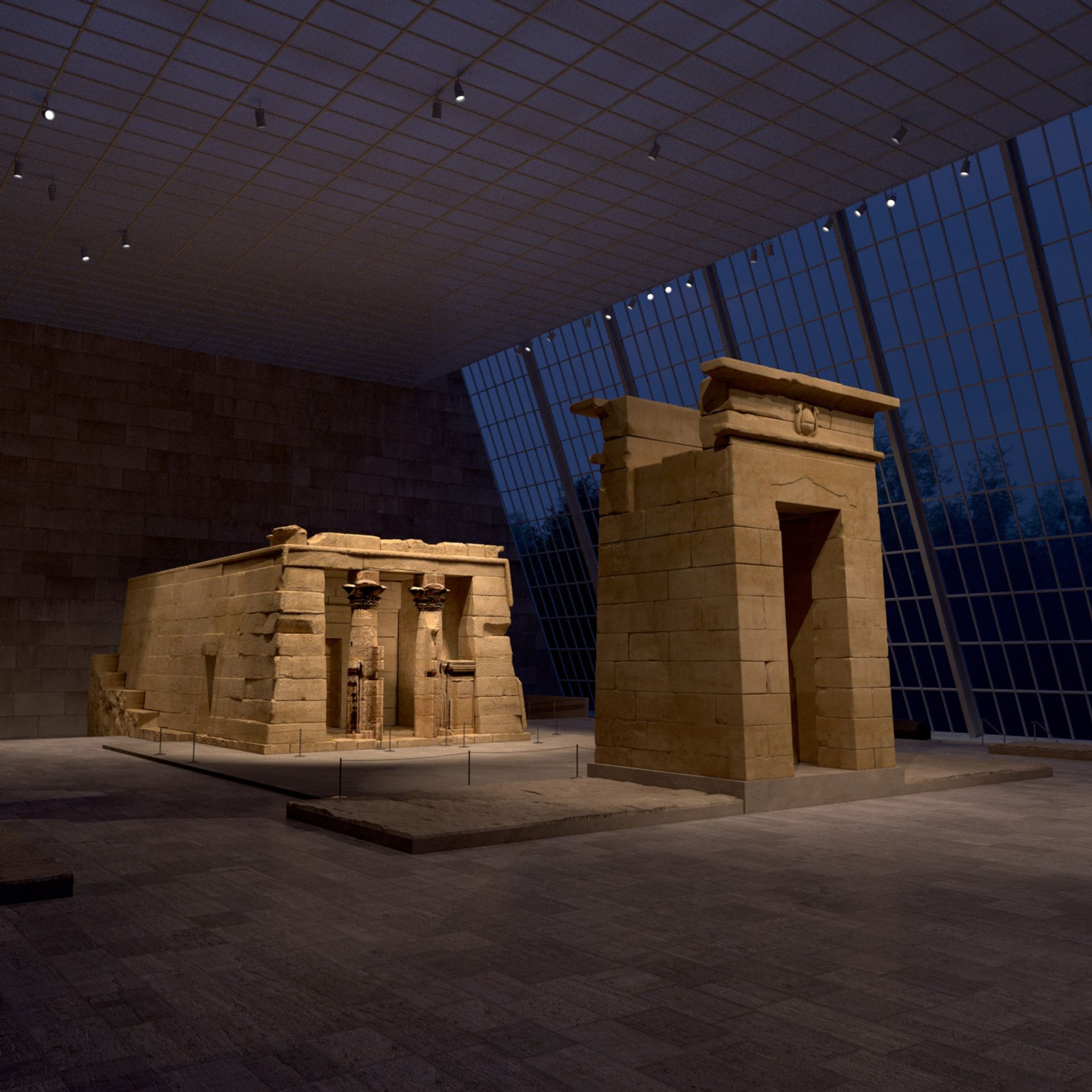 The Temple of Dendur, as experienced through the Metropolitan Museum of Art's new virtual and gaming experience Courtesy of the Metropolitan Museum of Art and Verizon