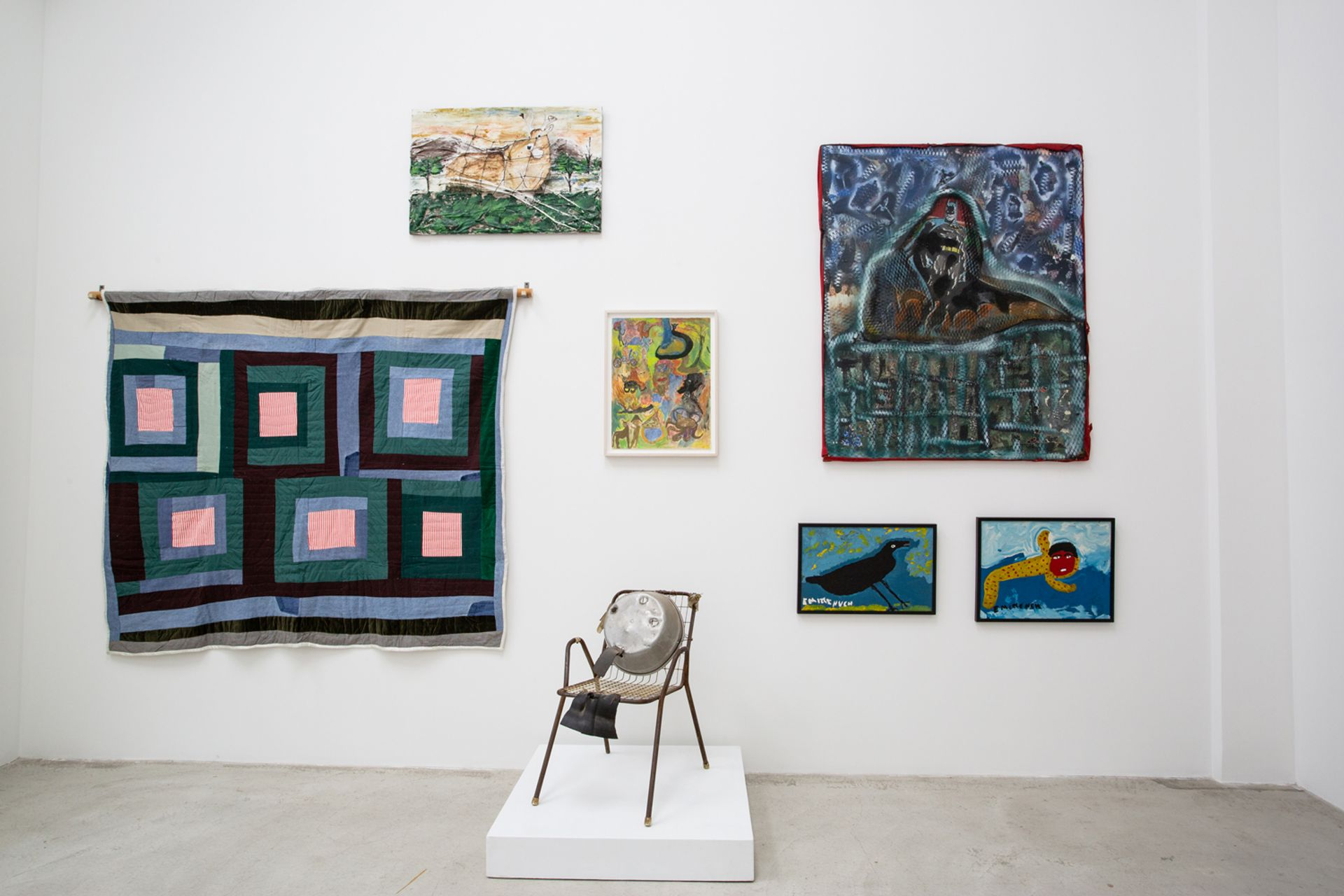 Installation view of Keep Your Lamps Trimmed and Burning On view at Shin Gallery, curated by Scott Ogden as part of the Outsider Art Fair 2021 Photo: Olya Vysotskaya