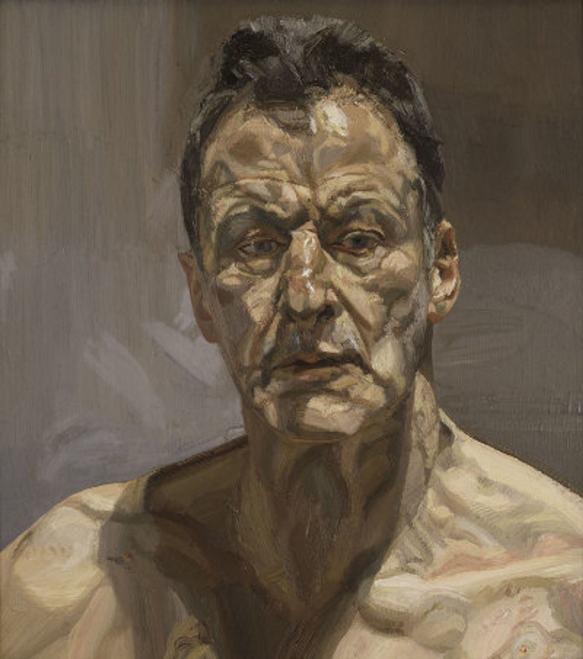 Reflection (self-portrait), 1985, by Lucian Freud © The Lucian Freud Archive / Bridgeman Images