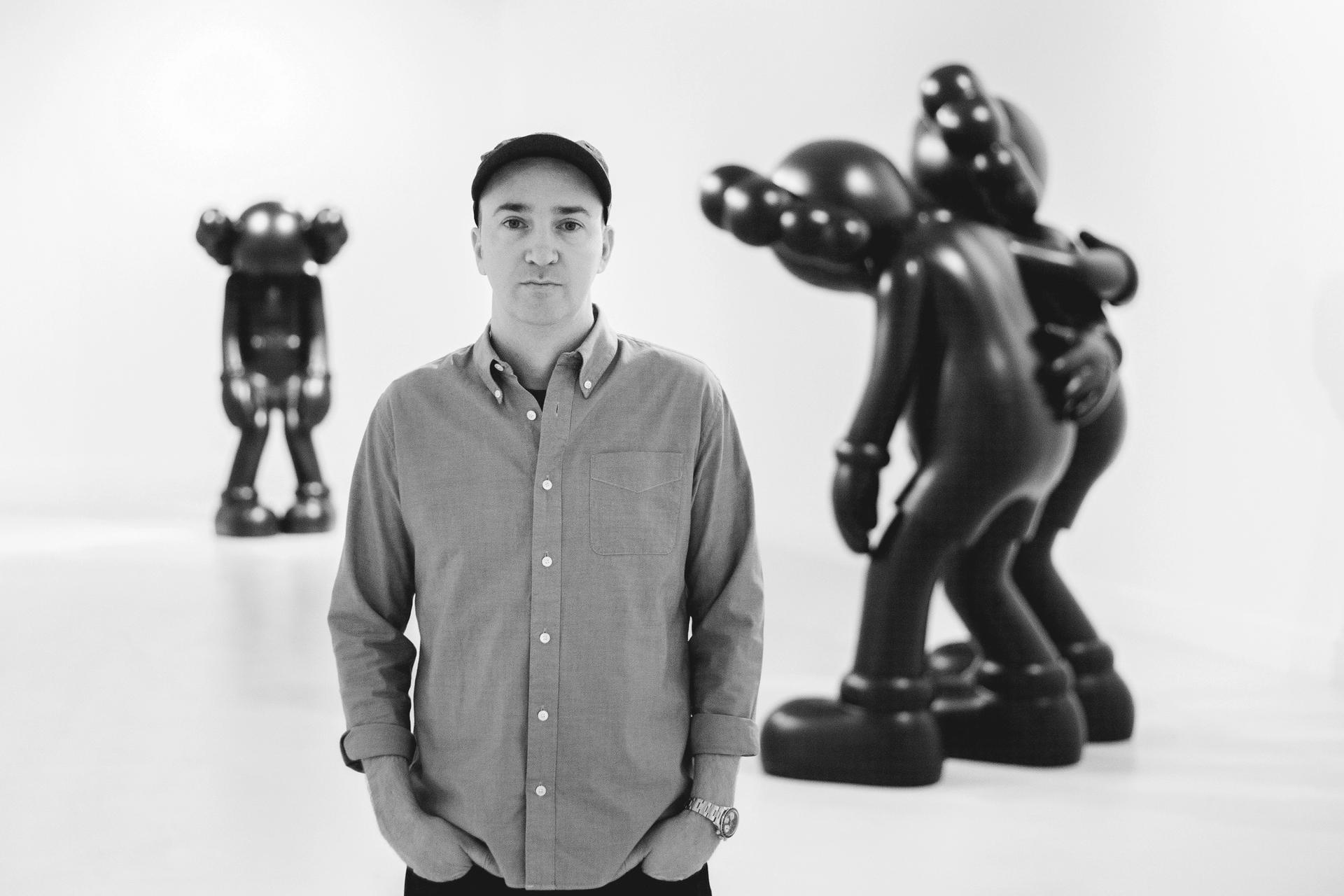 KAWS is a long-time collector of Outsider art Portrait by Nils Mueller