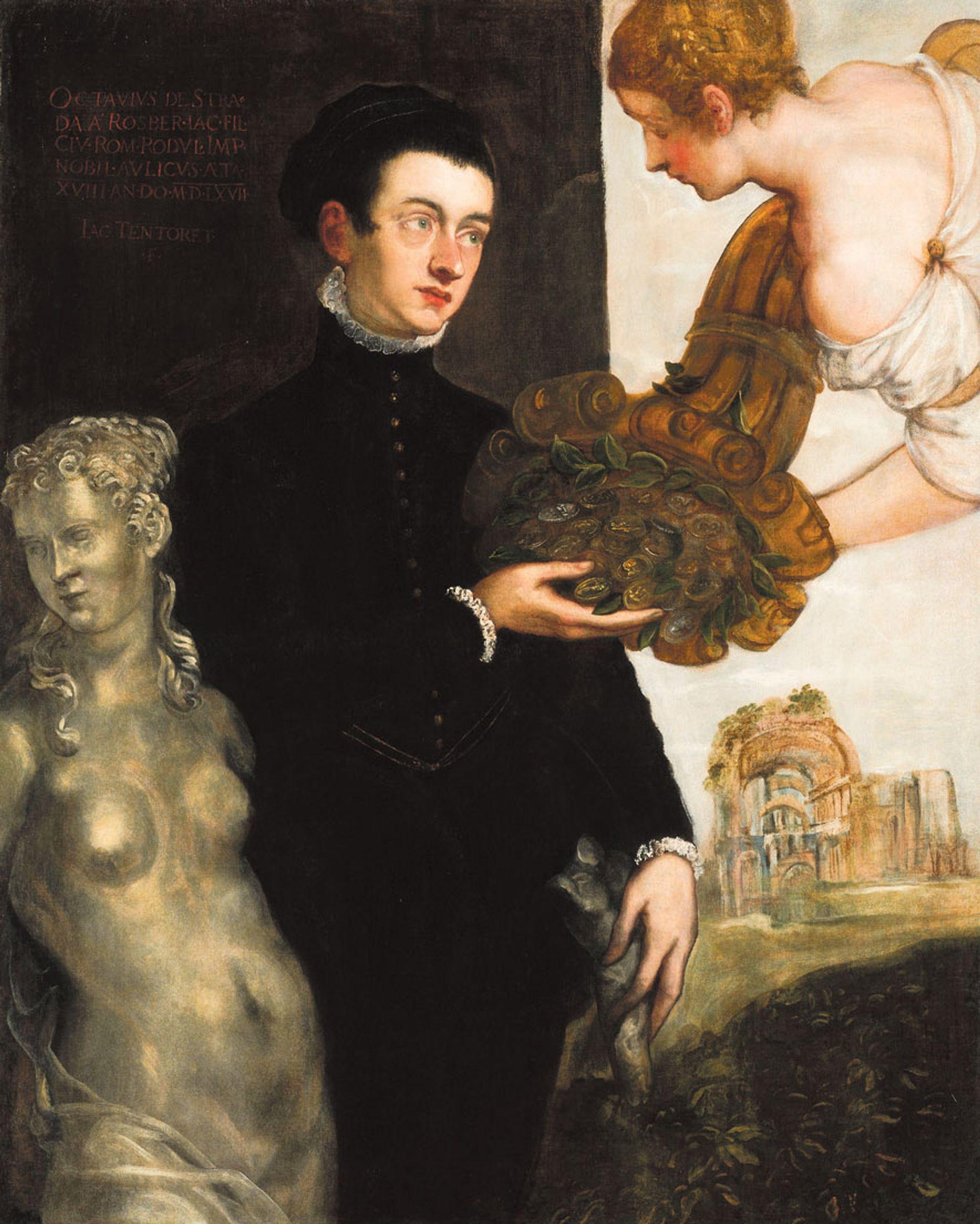 Jacopo Tintoretto's Portrait of Ottavio Strada (1567) features in Mary Beard's Twelve Caesars Rijksmuseum, Amsterdam