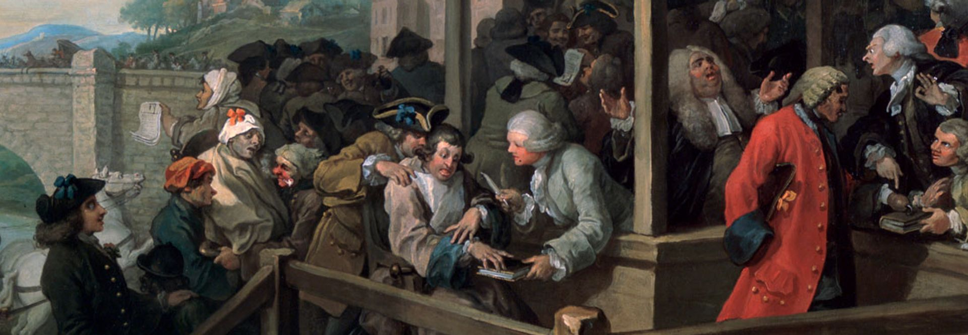 William Hogarth's The Humours of an Election, 3: The Polling (1754-55) (Sir John Soane's Museum London) William Hogarth's The Humours of an Election, 3: The Polling (1754-55) (Sir John Soane's Museum London)