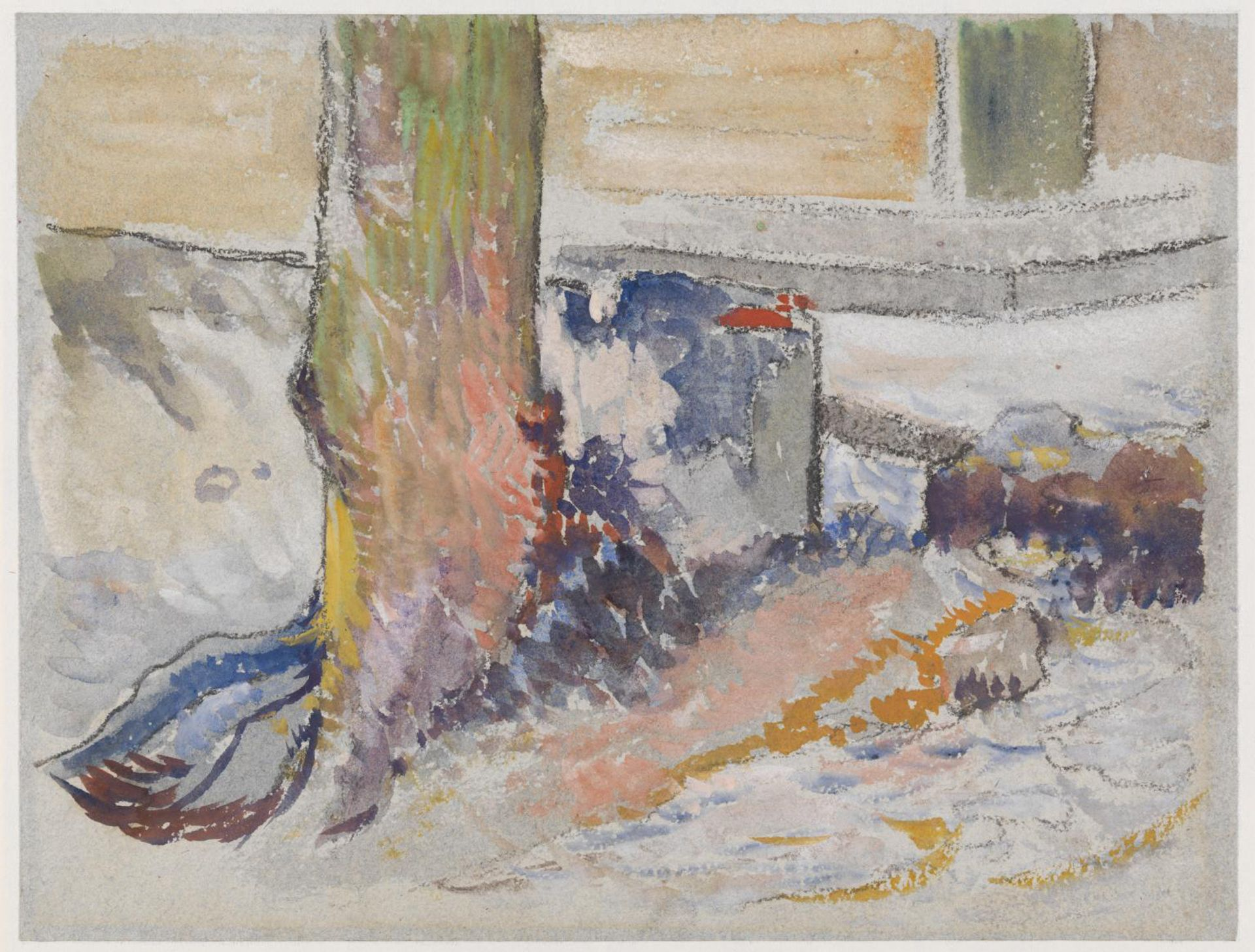 The new attribution for Study of a Tree (1887) follows research for the Van Gogh Museum's exhibition on Gauguin and his artist friend Charles Laval © The Tate