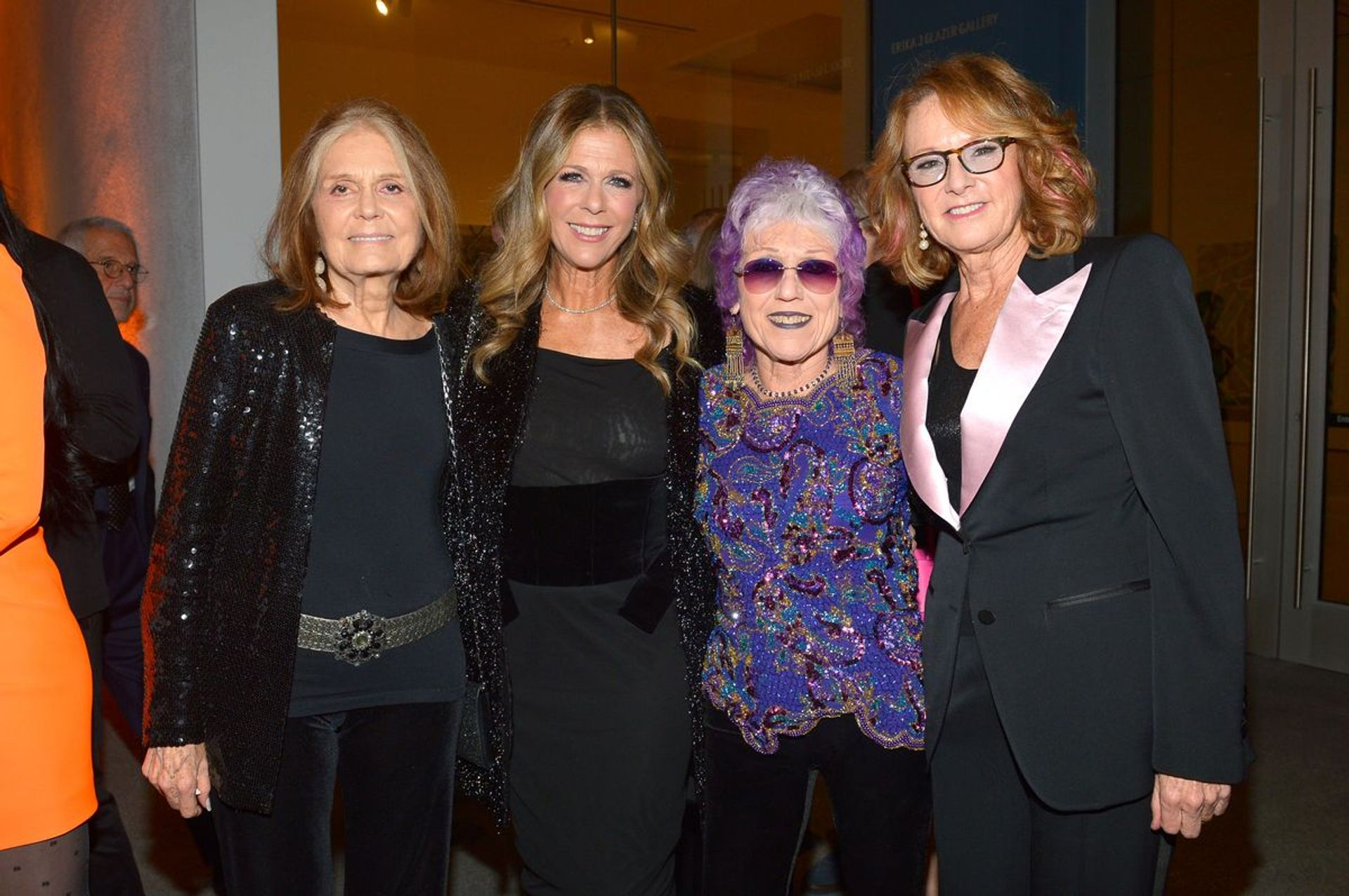 Gloria Steinem (left), with Hammer Museum trustee Rita Wilson, the artist Judy Chicago and the museum's director Ann Philbin at the 2019 Gala in the Garden Photo: Donato Sardella/Getty Images