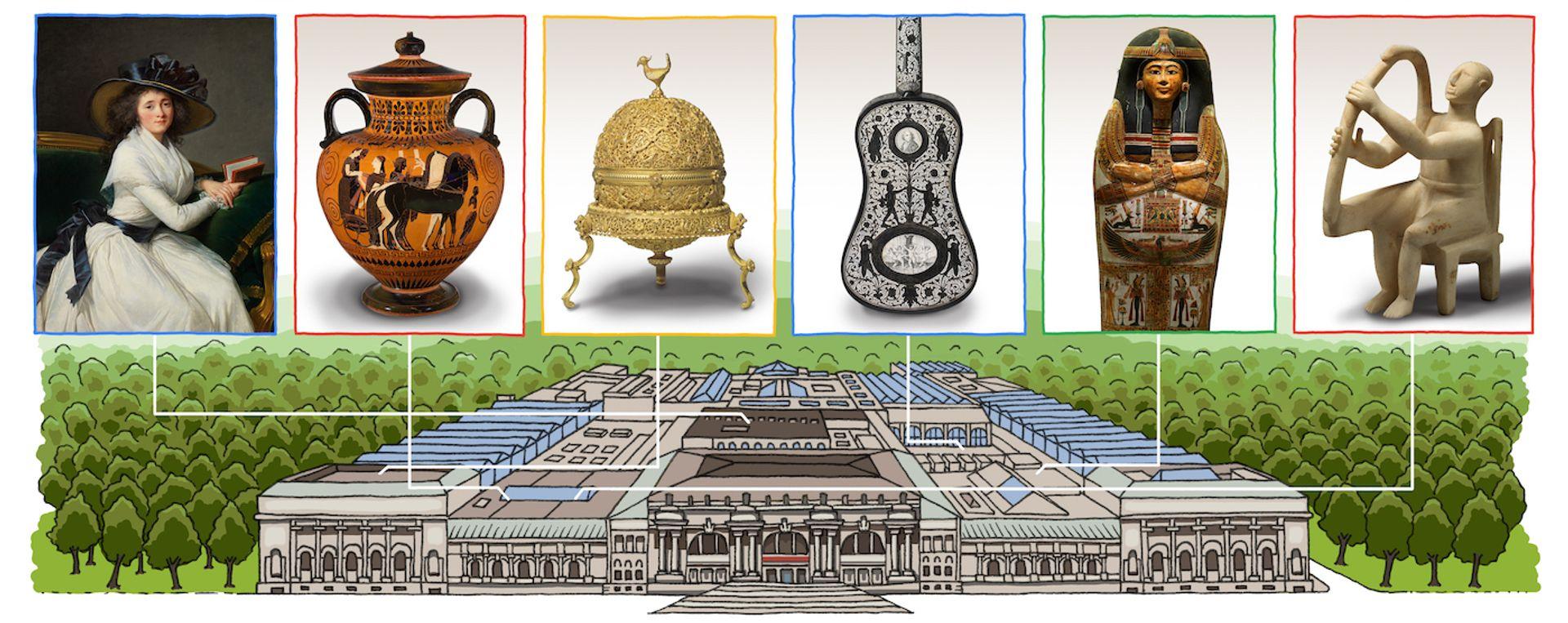 The Google Doodle celebrates the 151st anniversary of the Metropolitan Museum of Art Google Doodle
