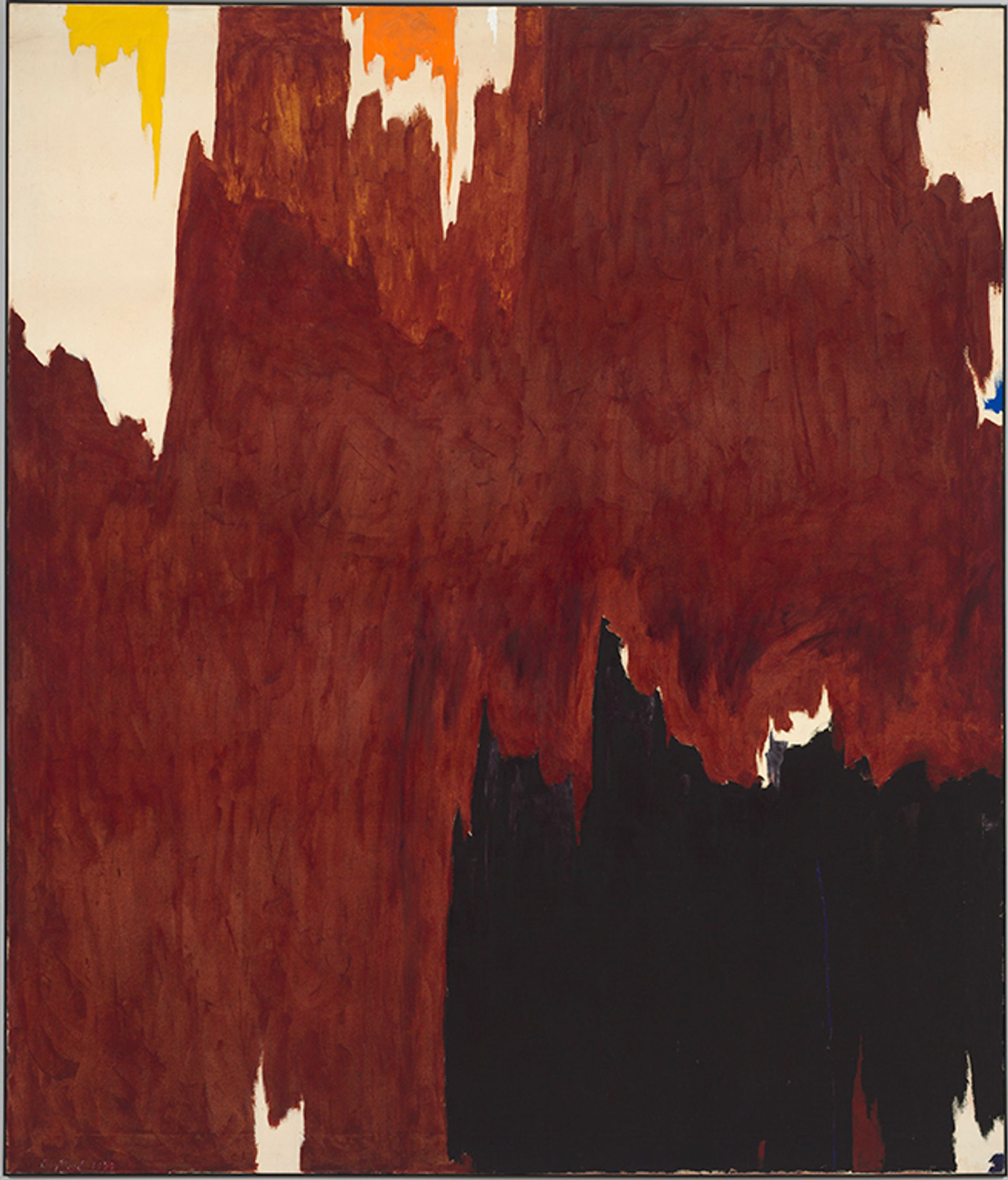 Clyfford Still, 1957-G (1957), the only work by the artist in the Baltimore Museum of Art's collection Courtesy of the Baltimore Museum of Art