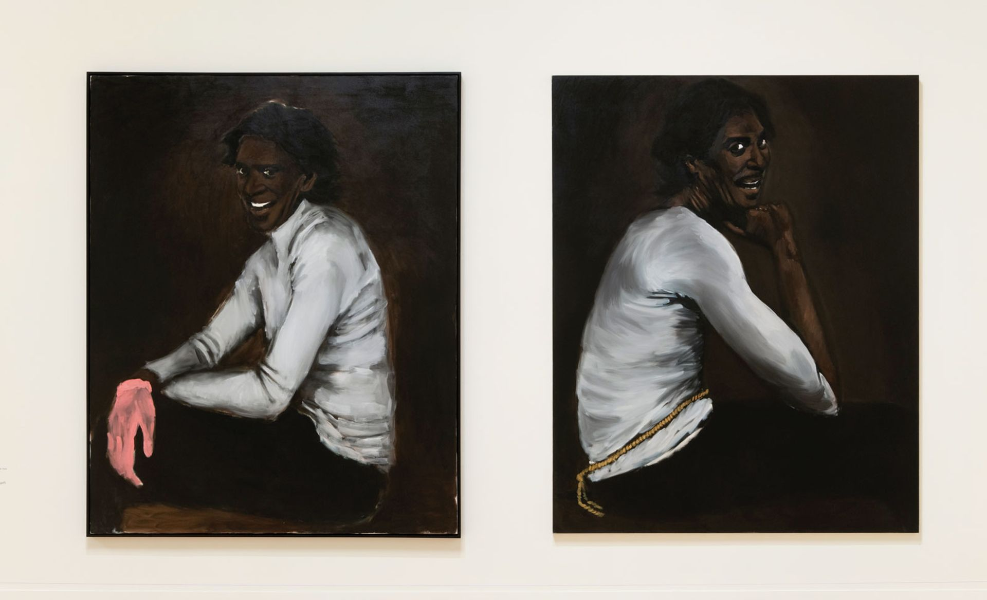 Wrist Action (2010) and Bound Over To Keep The Faith (2012) by Lynette Yiadom-Boakye at Tate Britain Photo: Tate (Seraphina Neville)