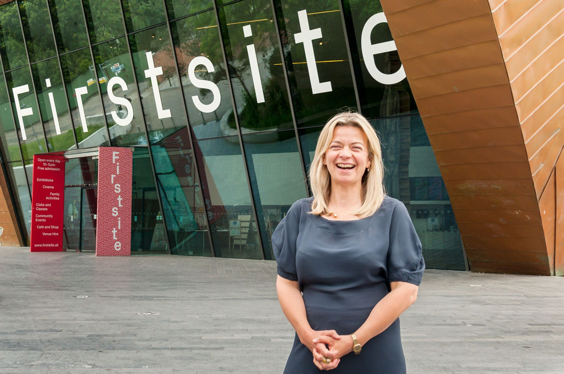 And the winner is... Firstsite, pictured with director Sally Shaw © Marc Atkins