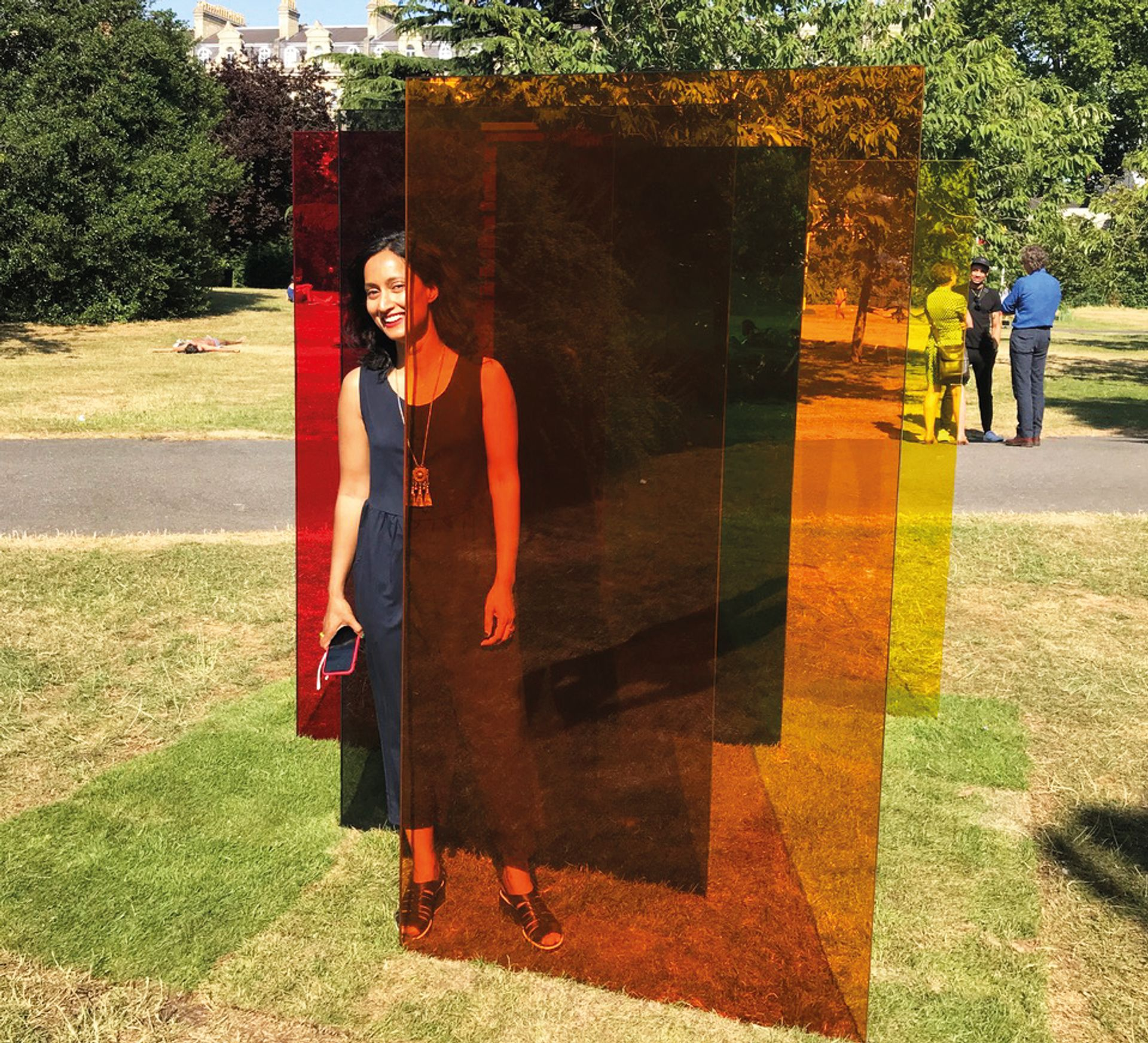 Rana Begum with her work in Frieze Sculpture. See her posts from the fair  on our Instagram account today Kate MacGarry