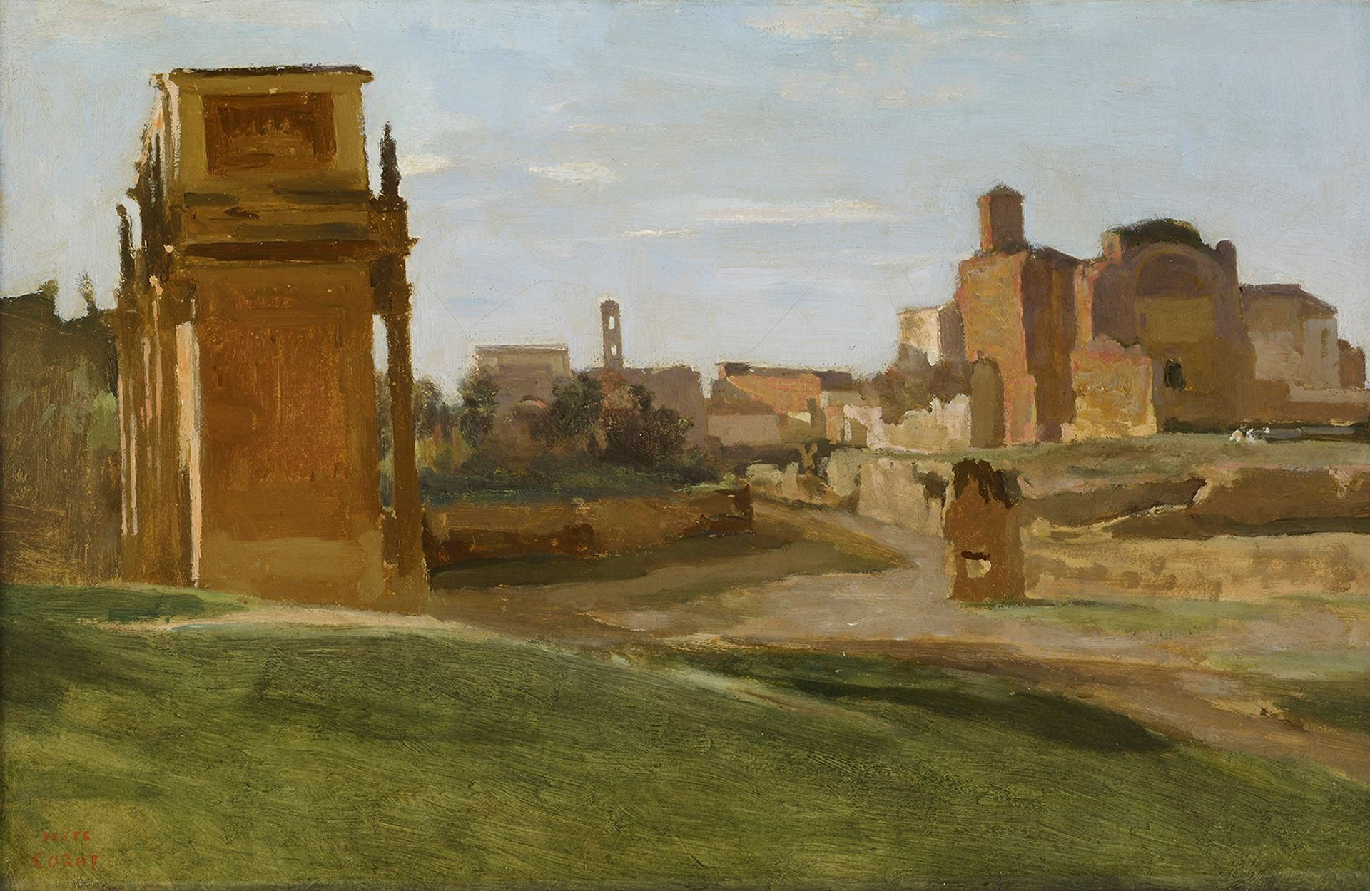 Jean-Baptiste-Camille Corot's The Arch of Constantine and the Forum, Rome (1843) is among the works heading to Puerto Rico Photo: Michael Bodycomb, courtesy the Frick Collection, New York