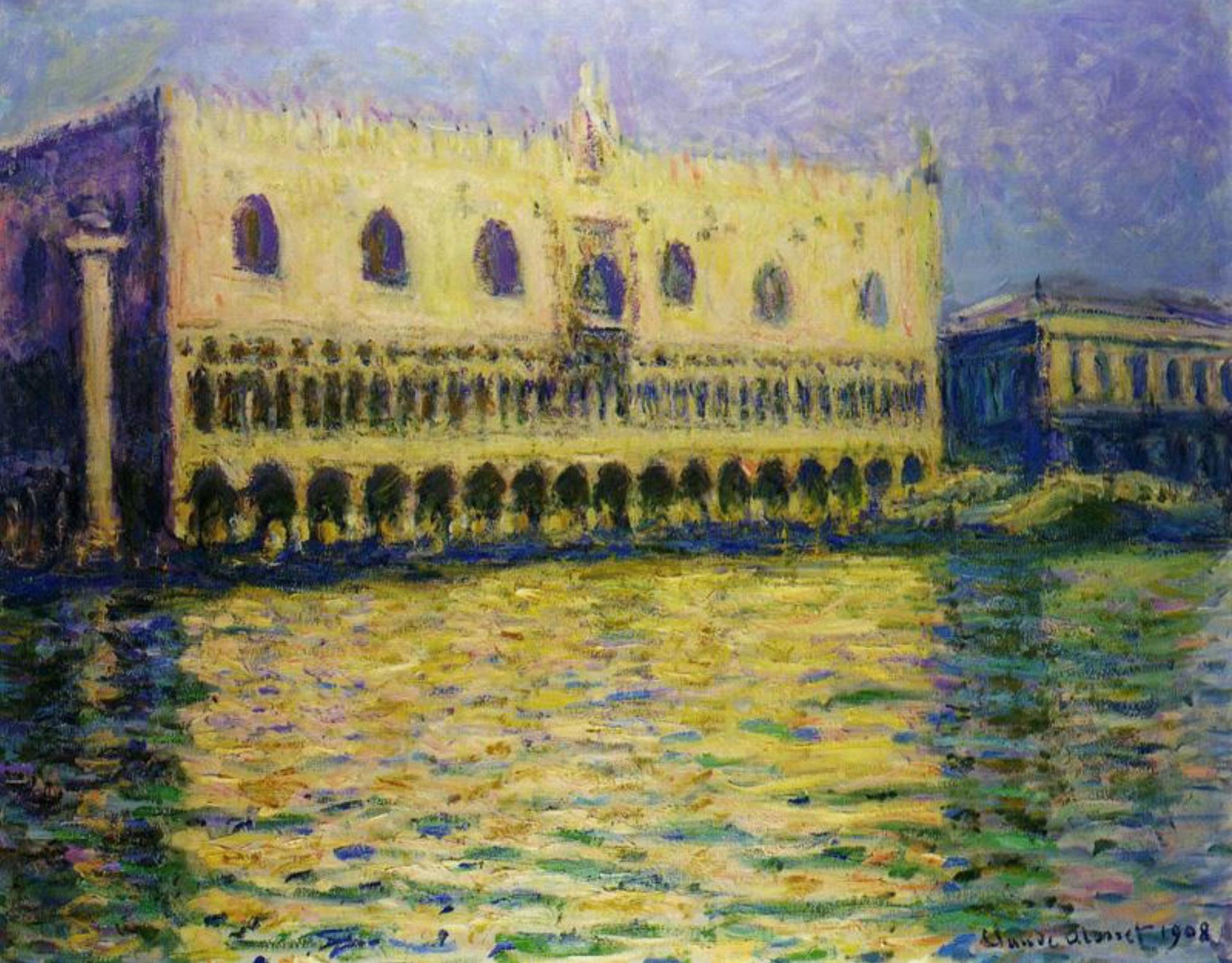 Le Palais Ducal (1908) by Claude Monet