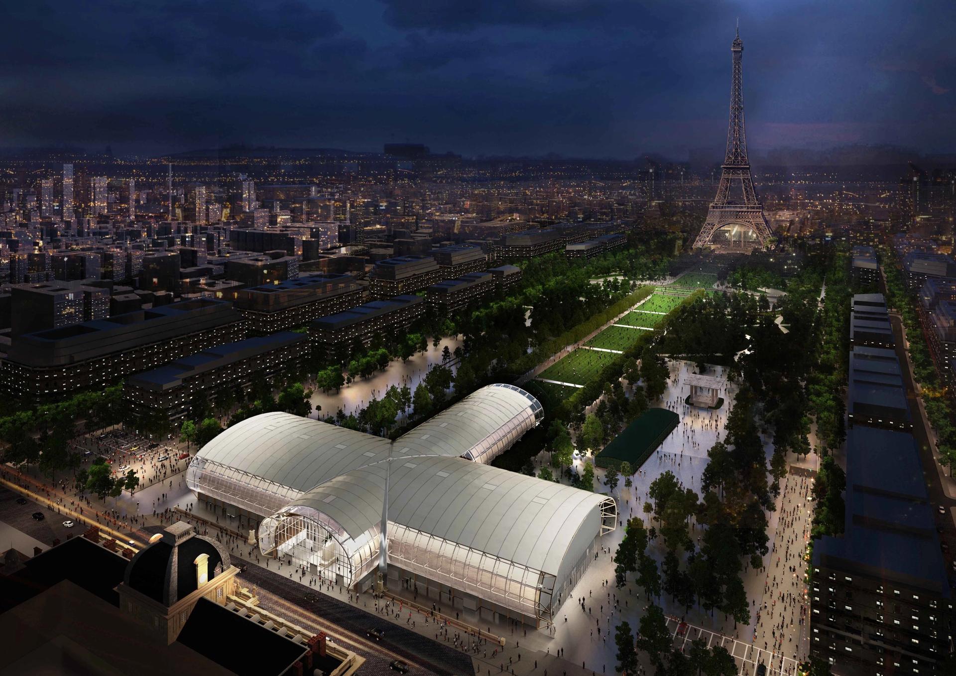 Le Grand Palais Éphémère, the new fair's venue © Willmotte & Associés Architectes