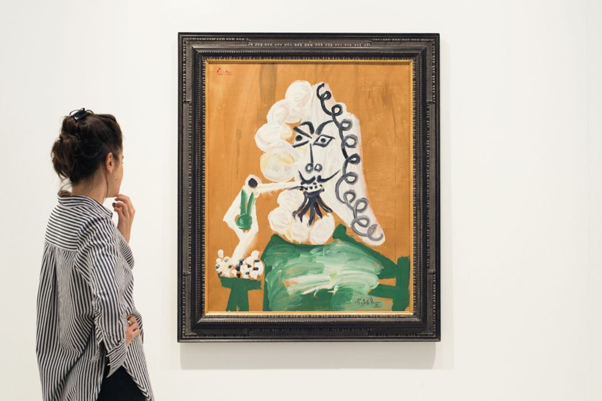 Pablo Picasso's Mousquetaire Buste (1968) at Art Basel in Hong Kong last year Photo: Liu Jingya