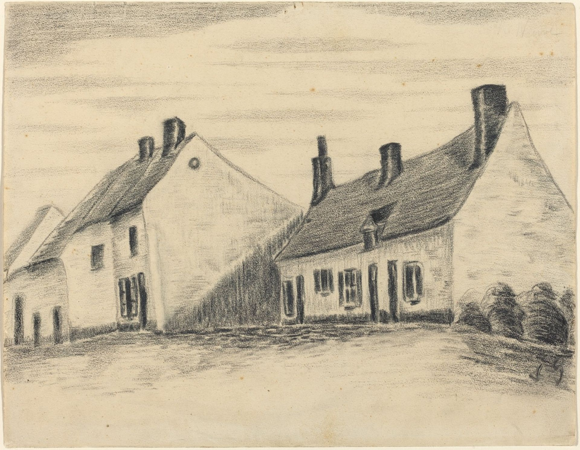 Vincent van Gogh (here attributed), The Zandmennik House Courtesy of the National Gallery of Art, Washington, DC (Armand Hammer Collection)