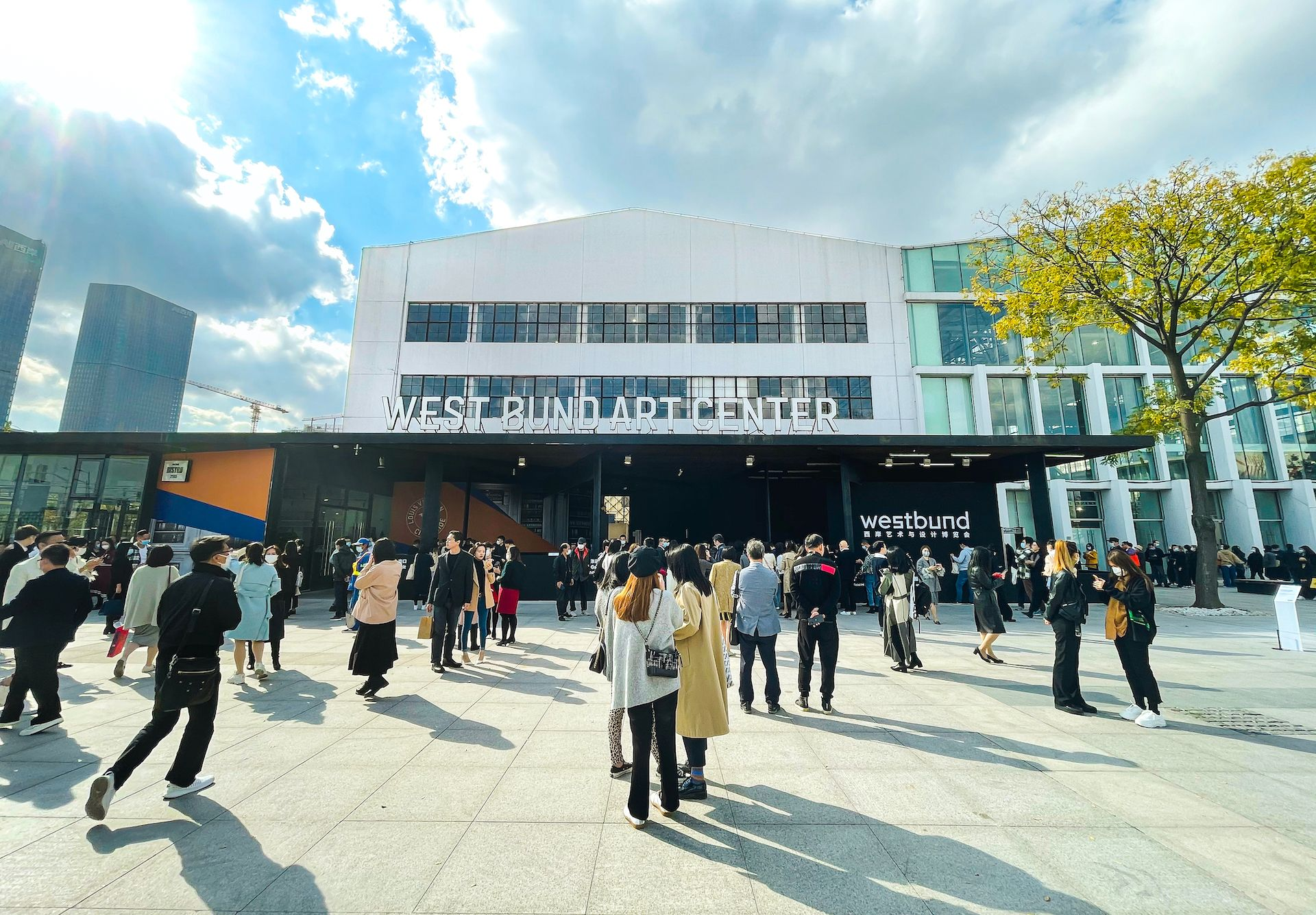 """""""This is our fifth year participating in Shanghai art fairs and it's the best year so far,"""" says Leo Xu, David Zwirner's senior director in Hong Kong Courtesy of West Bund"""