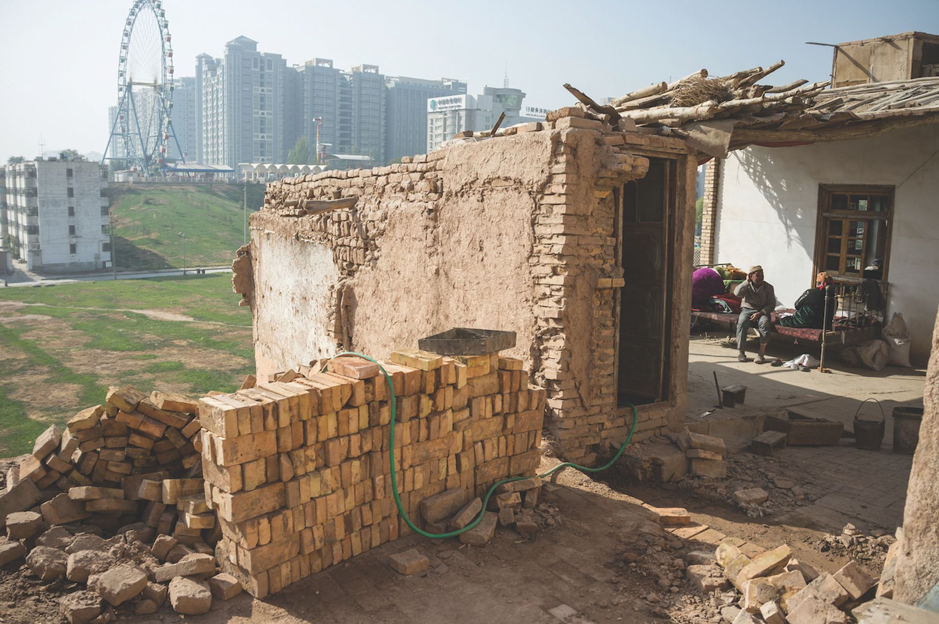 Kashgar's old city has been demolished, along with 70% of its mosques, and its population displaced @ 2012 Wulingyun