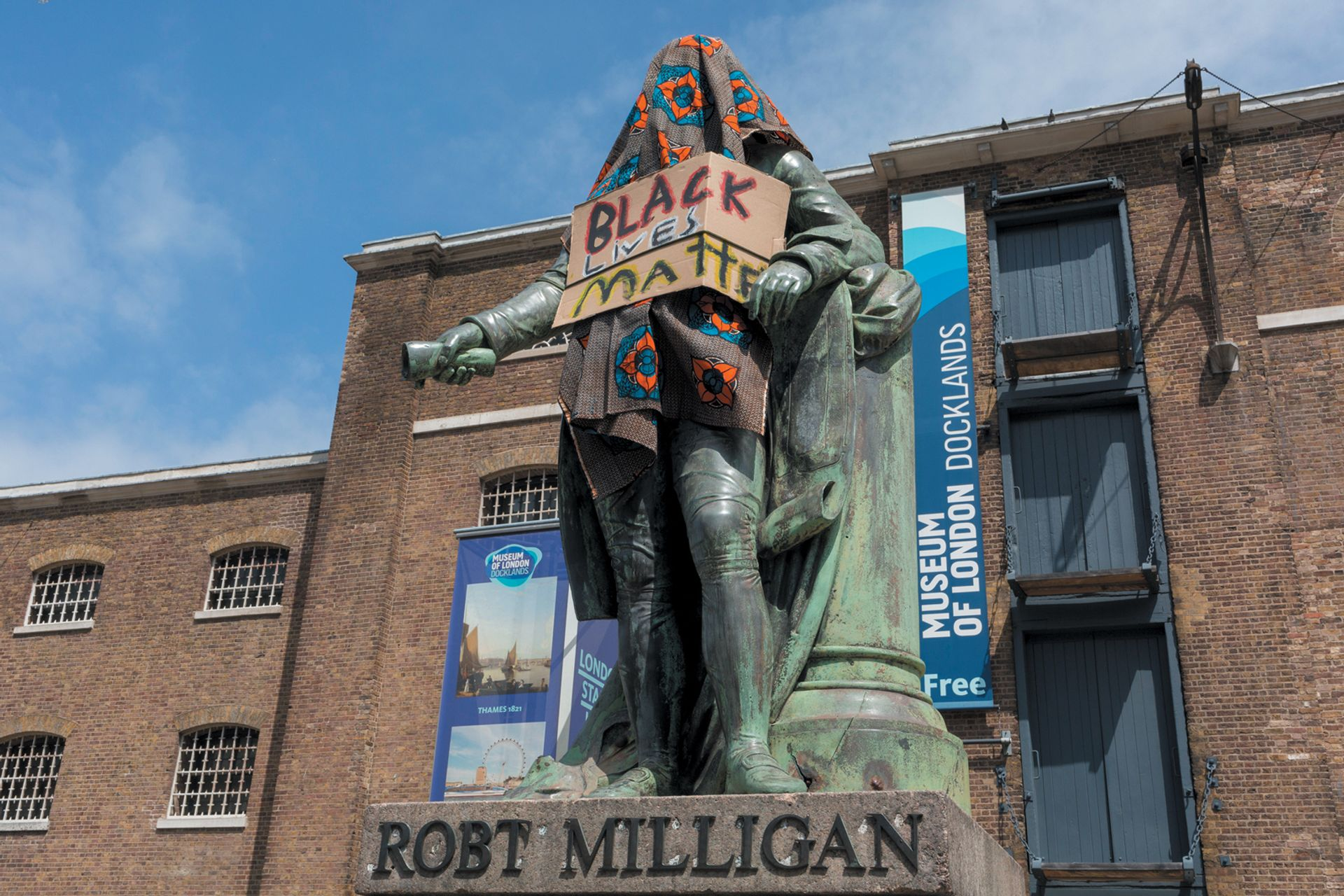 The controversial statue of slave trader Robert Milligan was removed from outside the Museum of London Docklands following the Black Lives Matter protests Photo: © Richard Baker / In Pictures via Getty Images