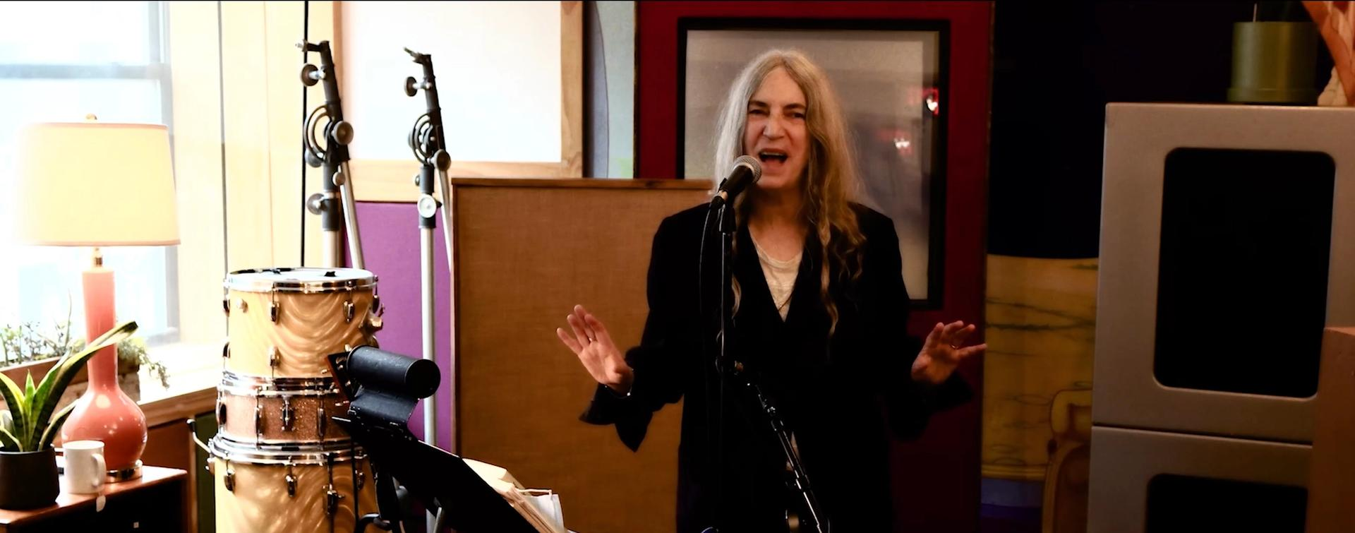 Patti Smith is releasing a 30-minute video of music and poetry on the CIRCA YouTube channel on 20 January at 20:21 GMT/15:21 EST Still courtesy of the artist and CIRCA