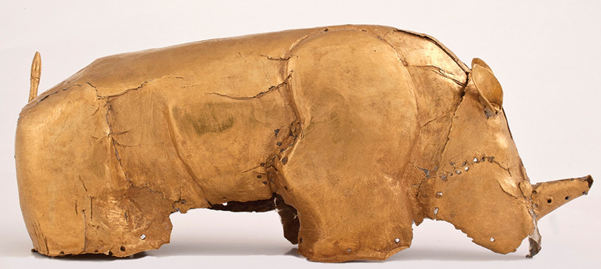 The gold foil rhino from the Mapungubwe collection © University of Pretoria