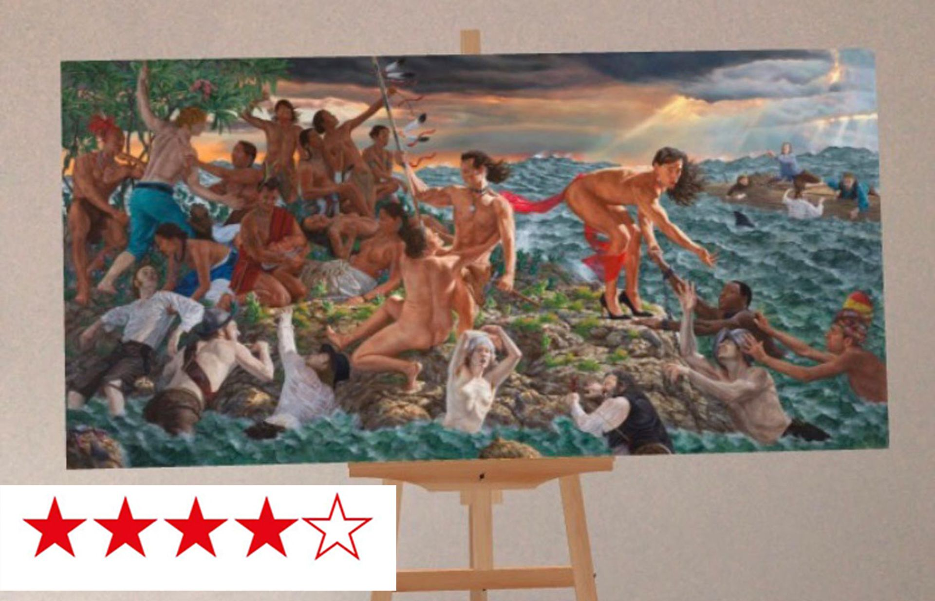 The Met Unframed allows you to place the museum's masterpieces, including Kent Monkman's Welcoming the Newcomers, in your own virtual space—for 15 minutes only Courtesy The Metropolitan Museum of Art and Verizon