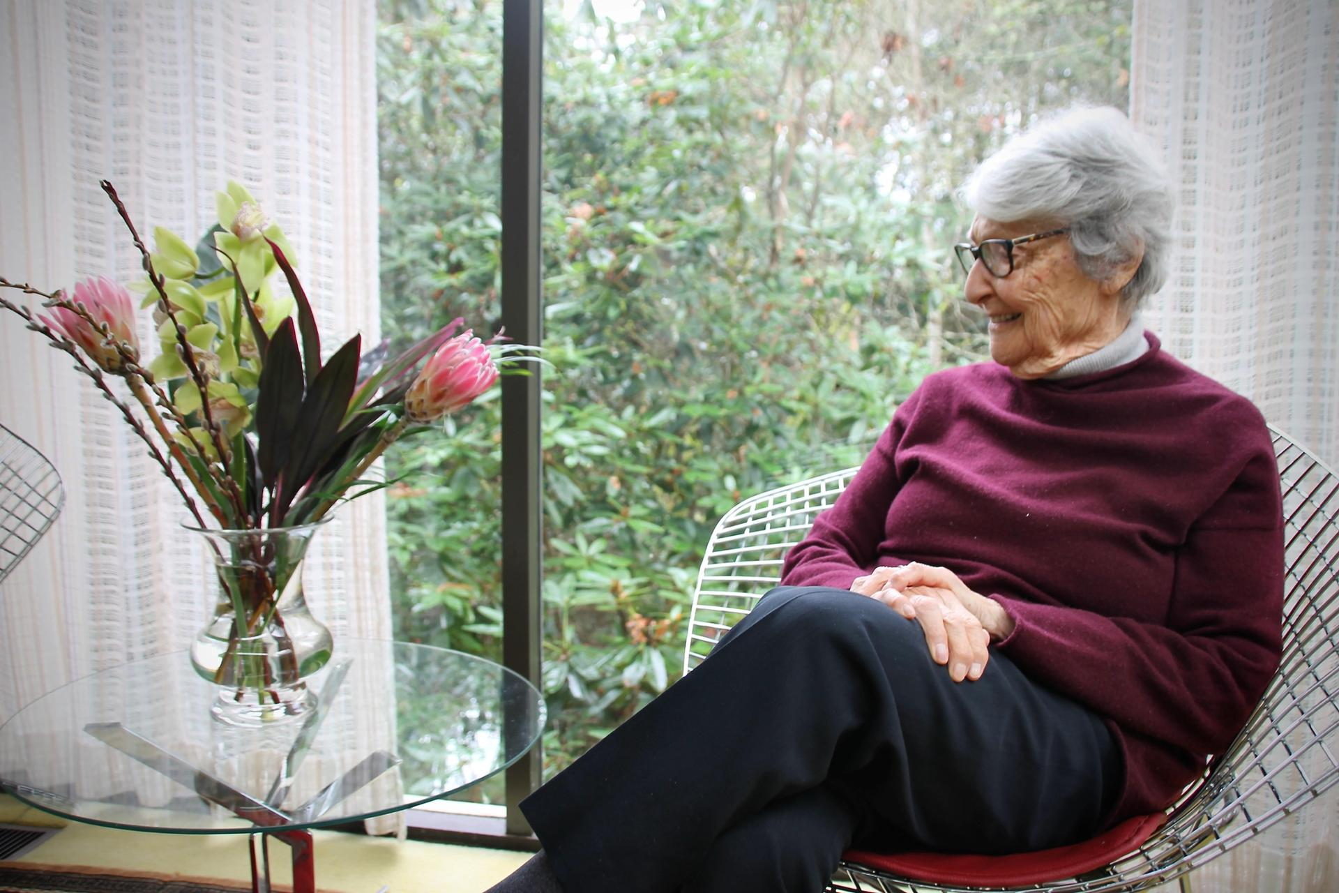 Cornelia Hahn Oberlander at her home in Vancouver in 2018 Photo: Hadani Ditmars